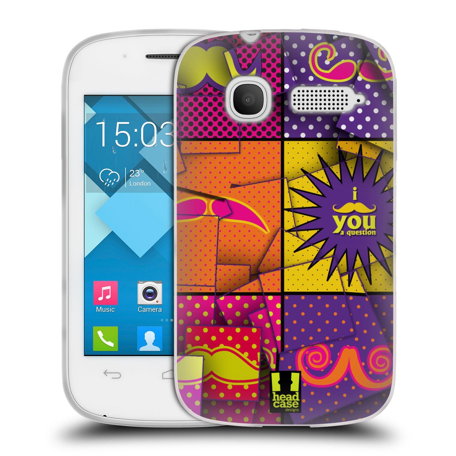Silikonové pouzdro na mobil Alcatel One Touch Pop C1 HEAD CASE POP ART KNÍRY (Silikonový kryt či obal na mobilní telefon Alcatel OT-4015D POP C1)