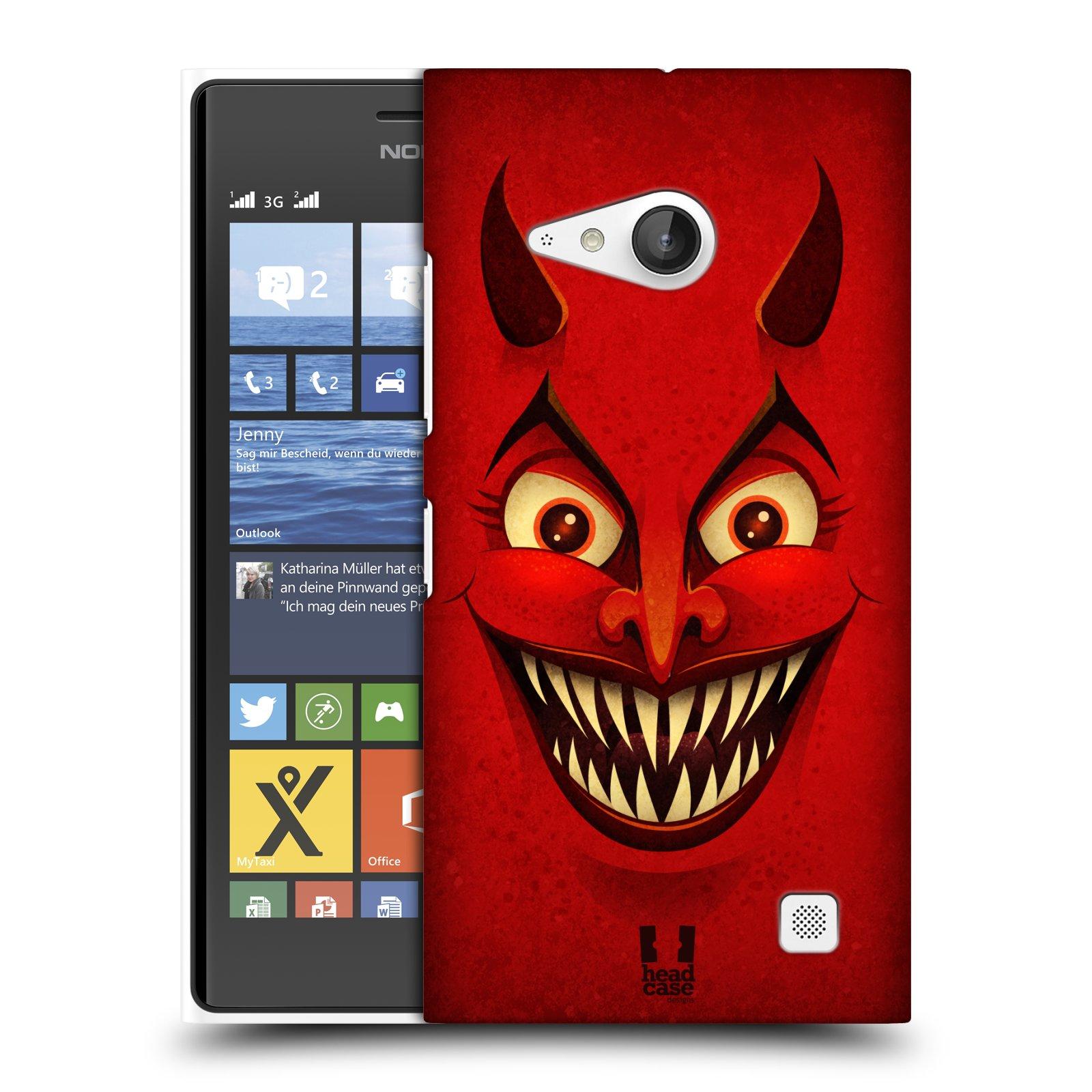 Plastové pouzdro na mobil Nokia Lumia 735 HEAD CASE ČERT (Kryt či obal na mobilní telefon Nokia Lumia 735)