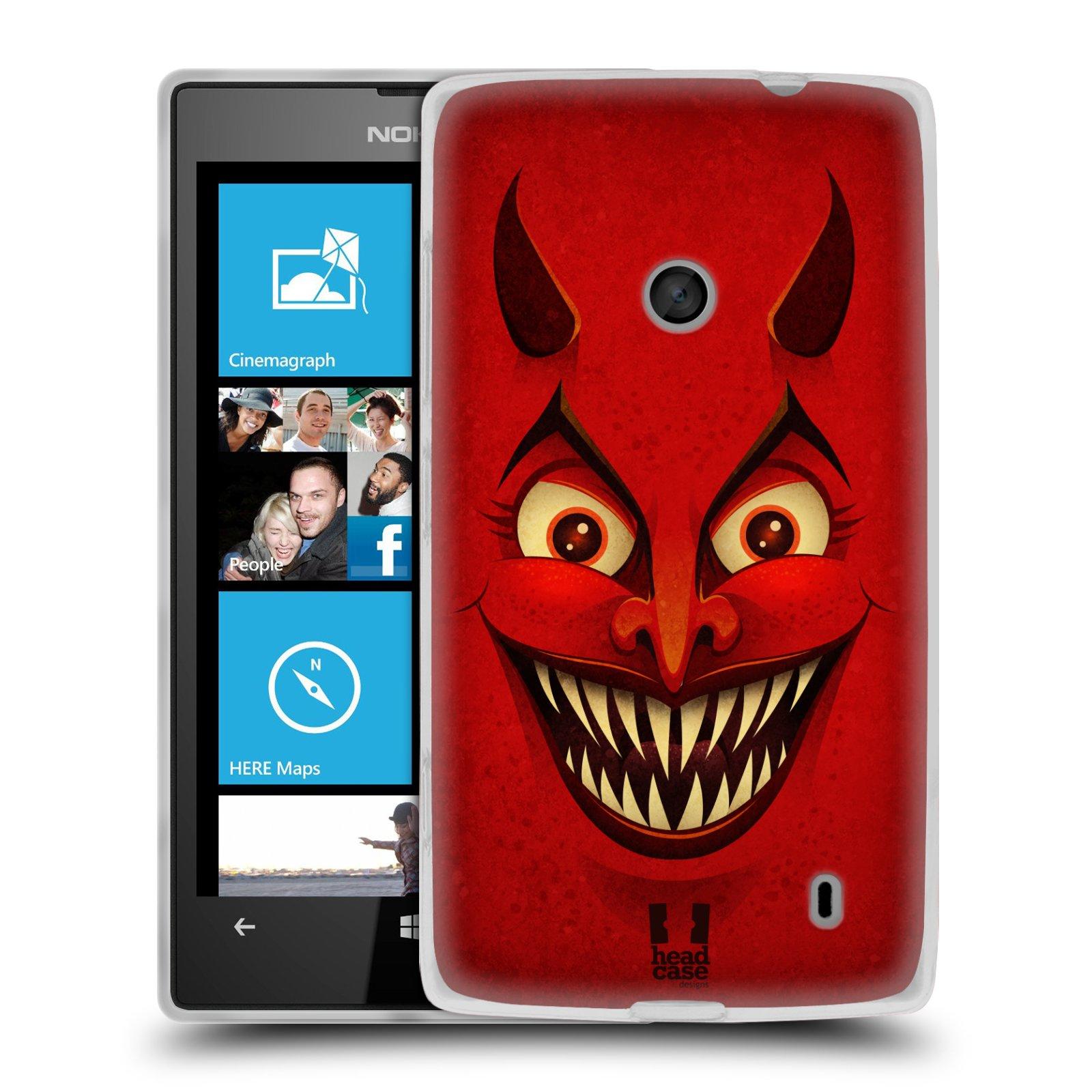 Silikonové pouzdro na mobil Nokia Lumia 520 HEAD CASE ČERT (Silikonový Kryt či obal na mobilní telefon Nokia Lumia 520)