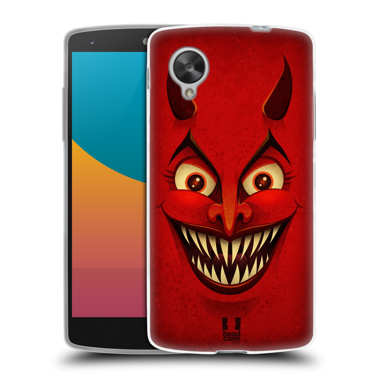 Silikonové pouzdro na mobil LG Nexus 5 HEAD CASE ČERT (Silikonový kryt či obal na mobilní telefon LG Google Nexus 5 D821)