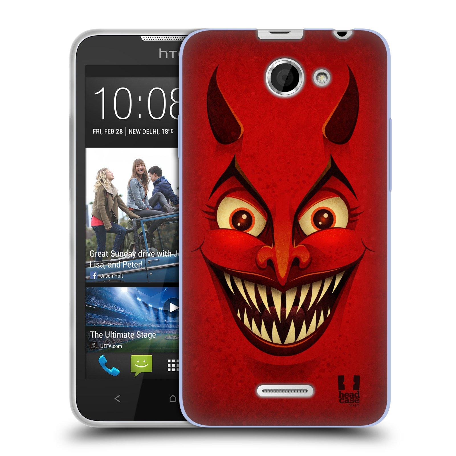 Silikonové pouzdro na mobil HTC Desire 516 HEAD CASE ČERT (Silikonový kryt či obal na mobilní telefon HTC Desire 516 Dual SIM)
