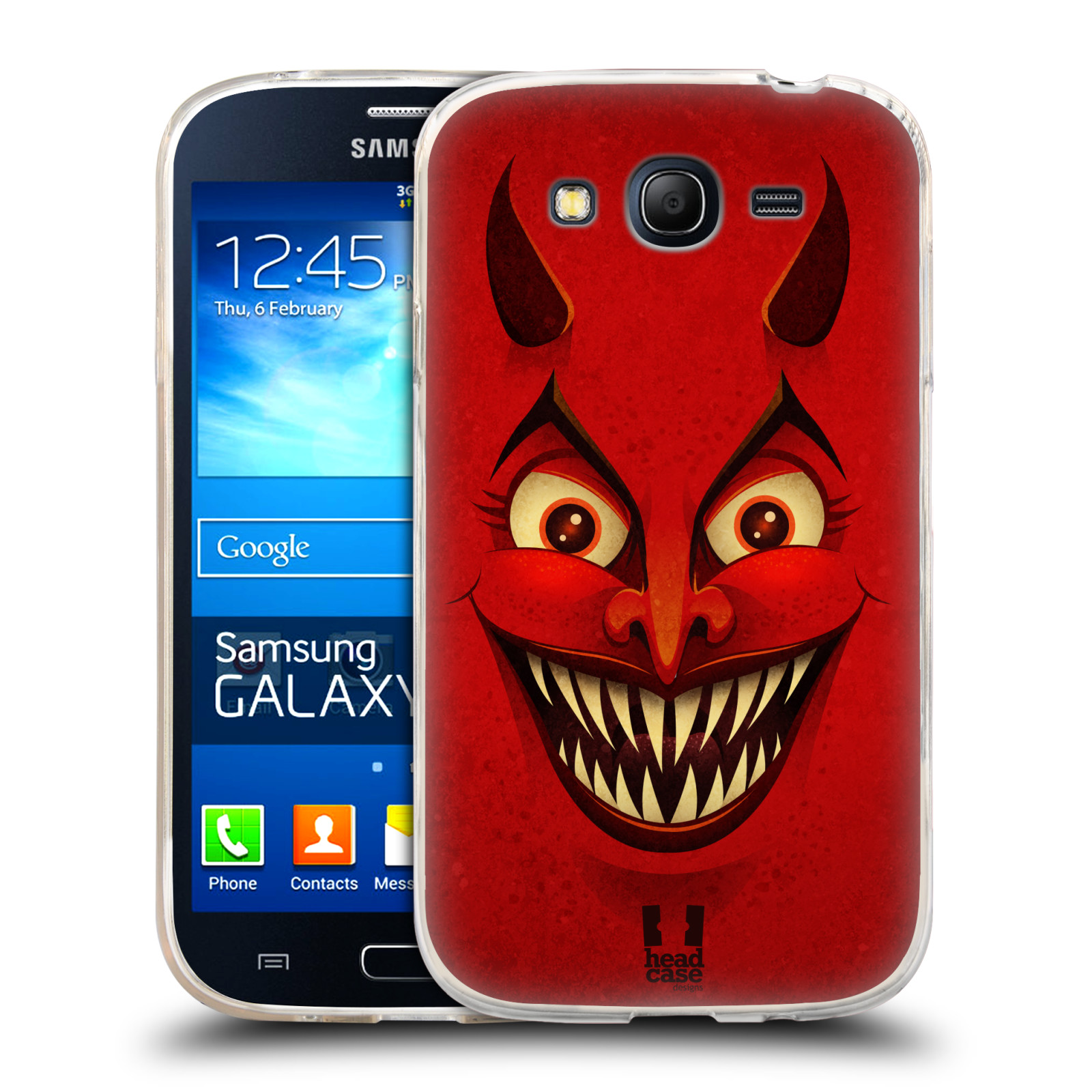 Silikonové pouzdro na mobil Samsung Galaxy Grand Neo Plus HEAD CASE ČERT (Silikonový kryt či obal na mobilní telefon Samsung Galaxy Grand Neo Plus Duos GT-I9060i)