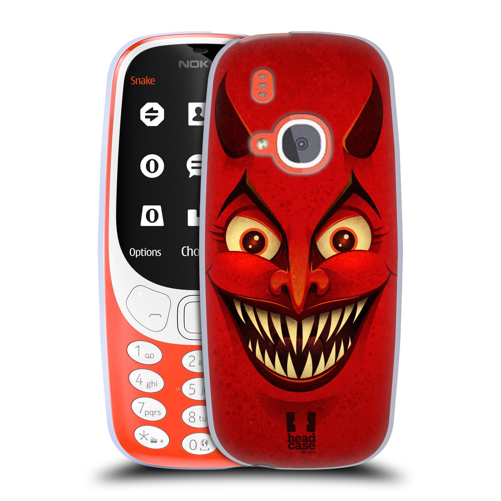 Silikonové pouzdro na mobil Nokia 3310 - Head Case - ČERT (Silikonový kryt či obal na mobilní telefon Nokia 3310 (2017) s motivem ČERT)