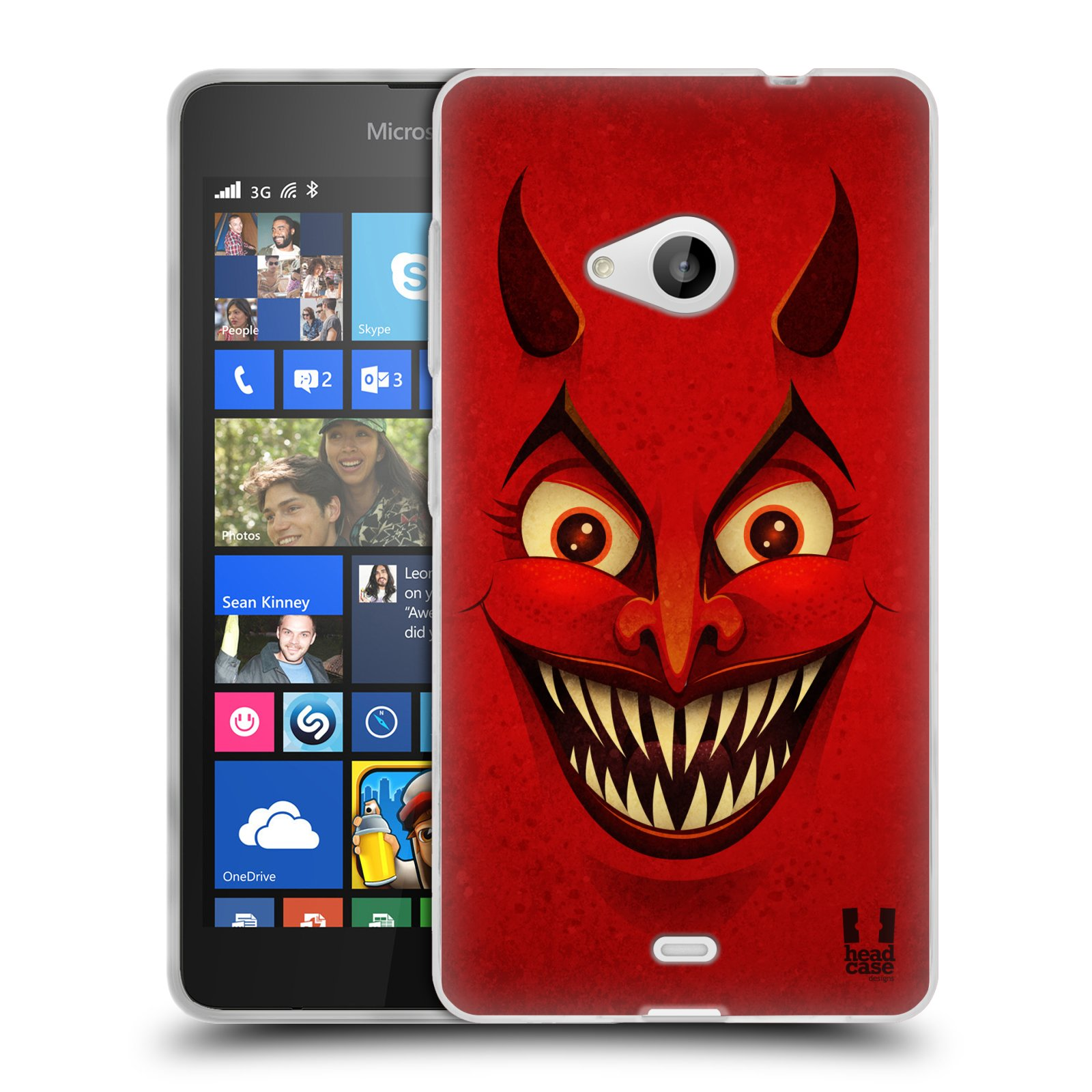 Silikonové pouzdro na mobil Microsoft Lumia 535 HEAD CASE ČERT (Silikonový kryt či obal na mobilní telefon Microsoft Lumia 535)