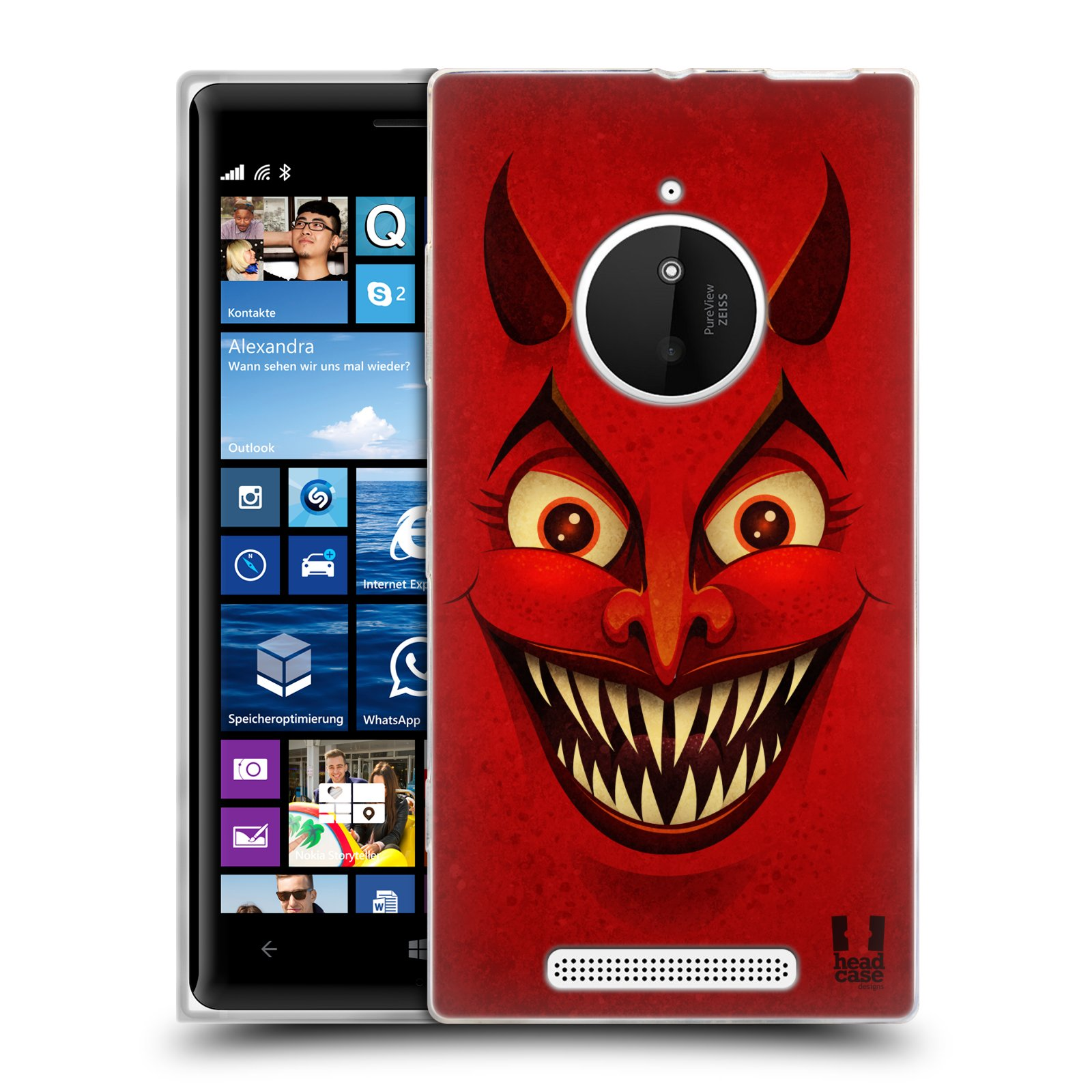 Silikonové pouzdro na mobil Nokia Lumia 830 HEAD CASE ČERT (Silikonový kryt či obal na mobilní telefon Nokia Lumia 830)
