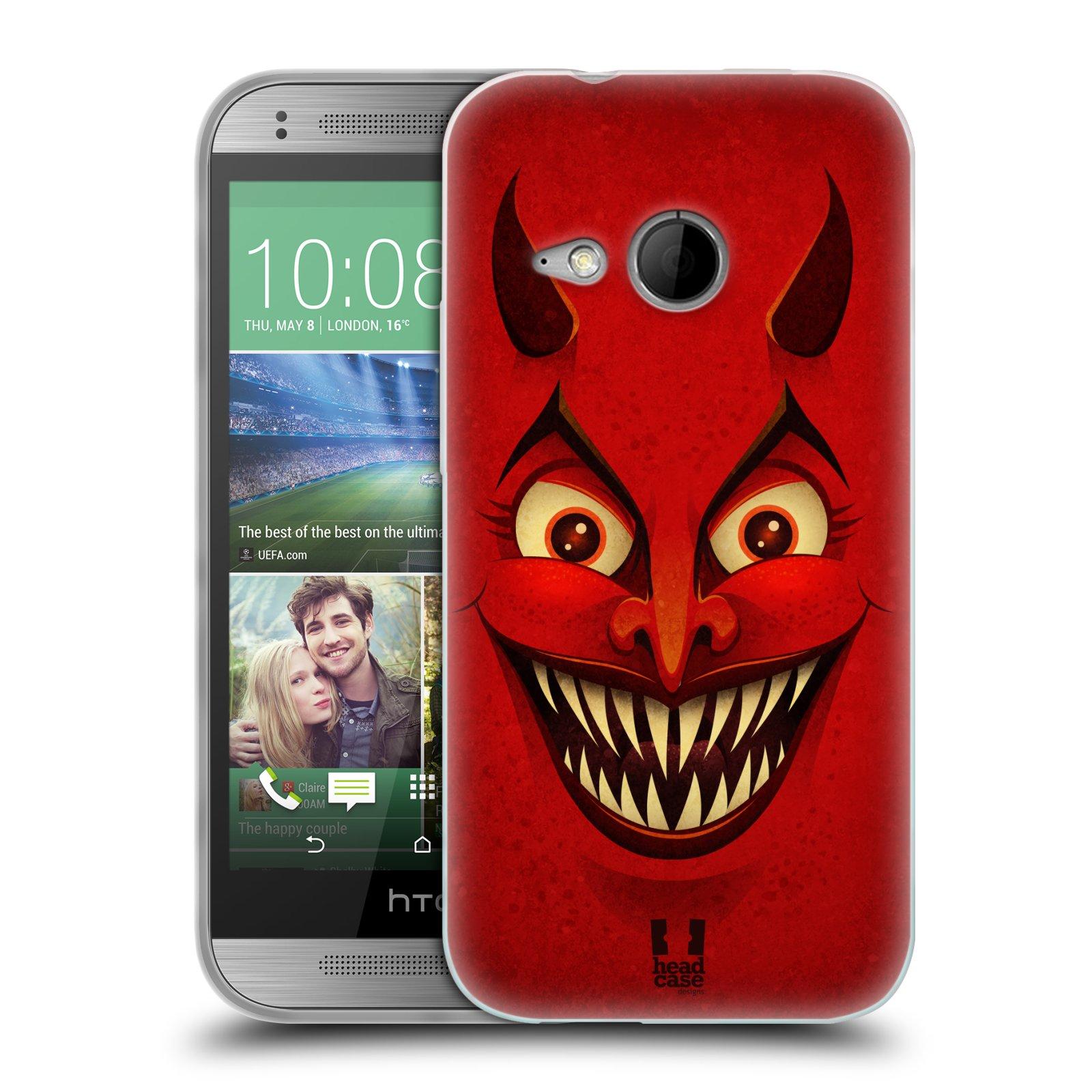 Silikonové pouzdro na mobil HTC ONE Mini 2 HEAD CASE ČERT (Silikonový kryt či obal na mobilní telefon HTC ONE Mini 2)