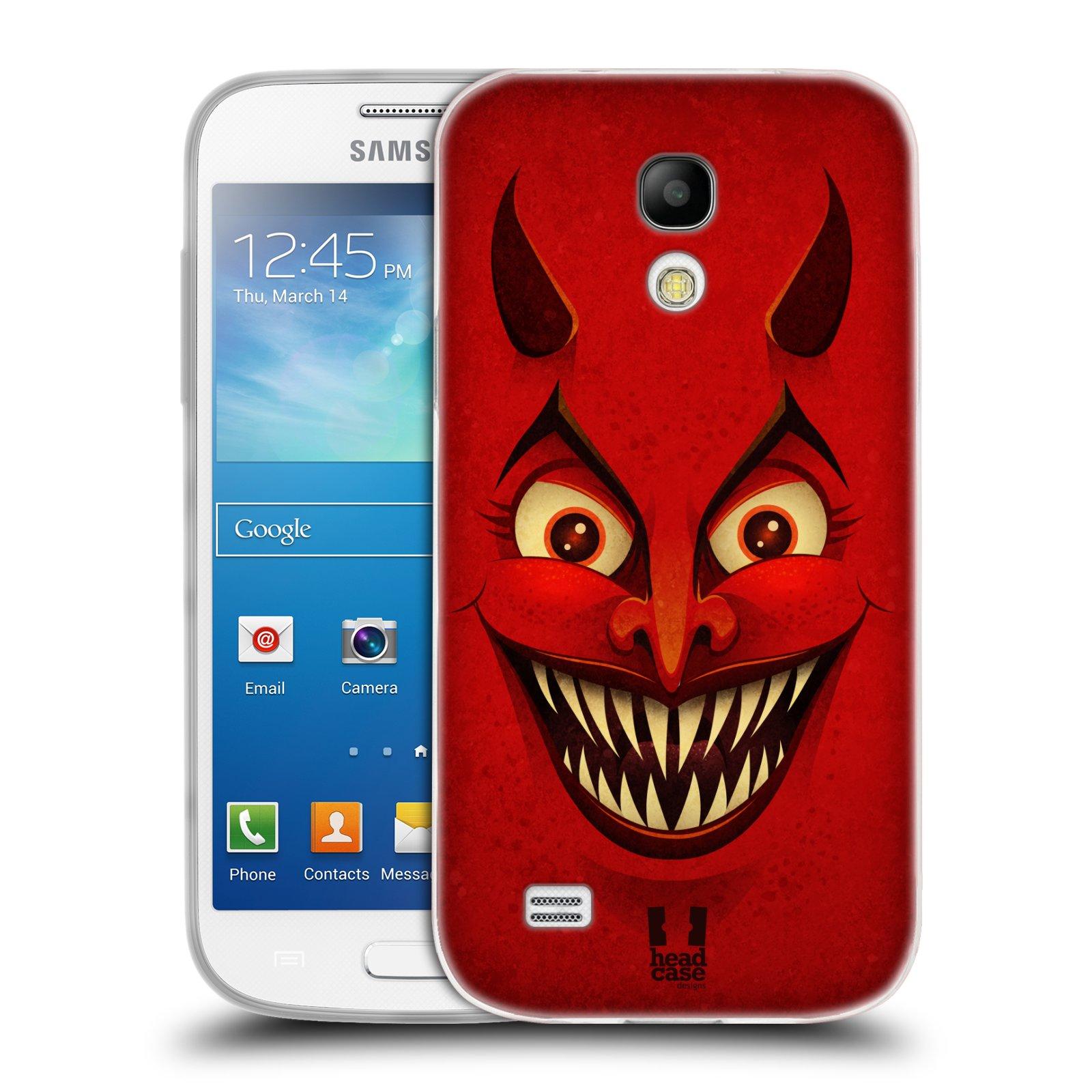Silikonové pouzdro na mobil Samsung Galaxy S4 Mini HEAD CASE ČERT (Silikonový kryt či obal na mobilní telefon Samsung Galaxy S4 Mini GT-i9195 / i9190 (nepasuje na verzi Black Edition))