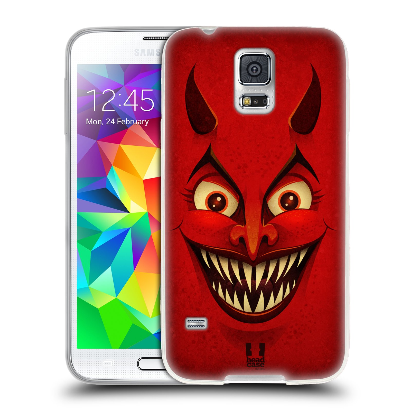 Silikonové pouzdro na mobil Samsung Galaxy S5 HEAD CASE ČERT (Silikonový kryt či obal na mobilní telefon Samsung Galaxy S5 SM-G900F)