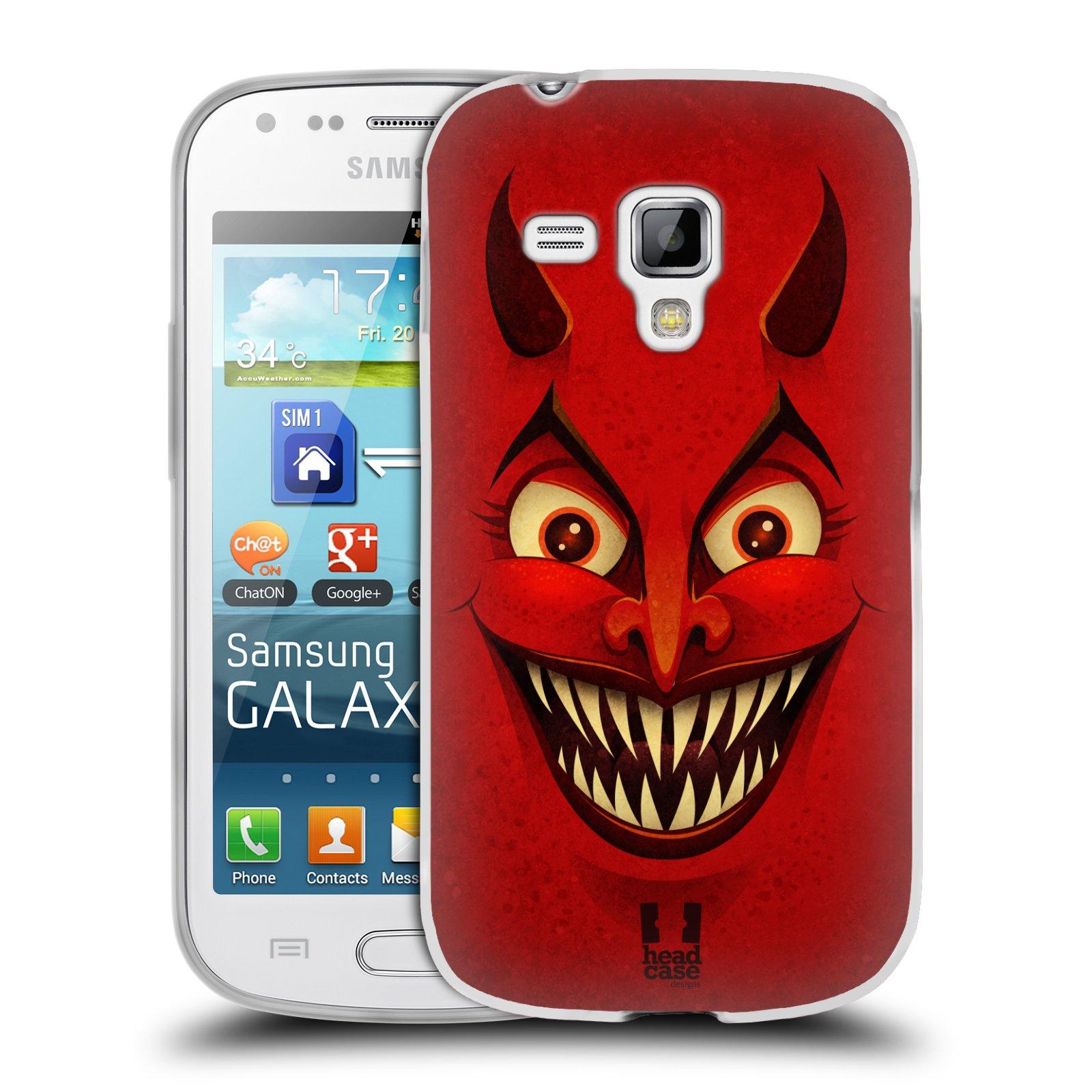 Silikonové pouzdro na mobil Samsung Galaxy Trend HEAD CASE ČERT (Silikonový kryt či obal na mobilní telefon Samsung Galaxy Trend GT-S7560)