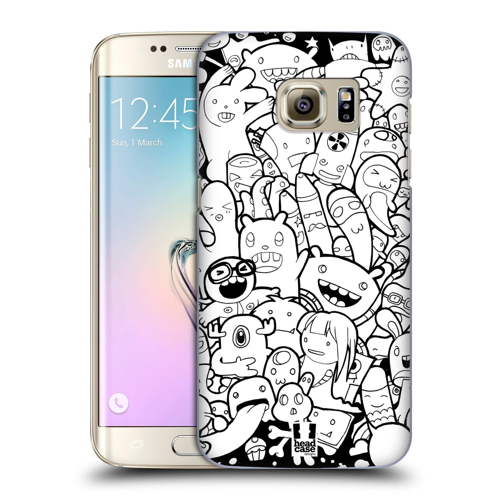 Plastové pouzdro na mobil Samsung Galaxy S7 Edge HEAD CASE DOODLE PŘÍŠERKY A MIMÍCI (Kryt či obal na mobilní telefon Samsung Galaxy S7 Edge SM-G935F)