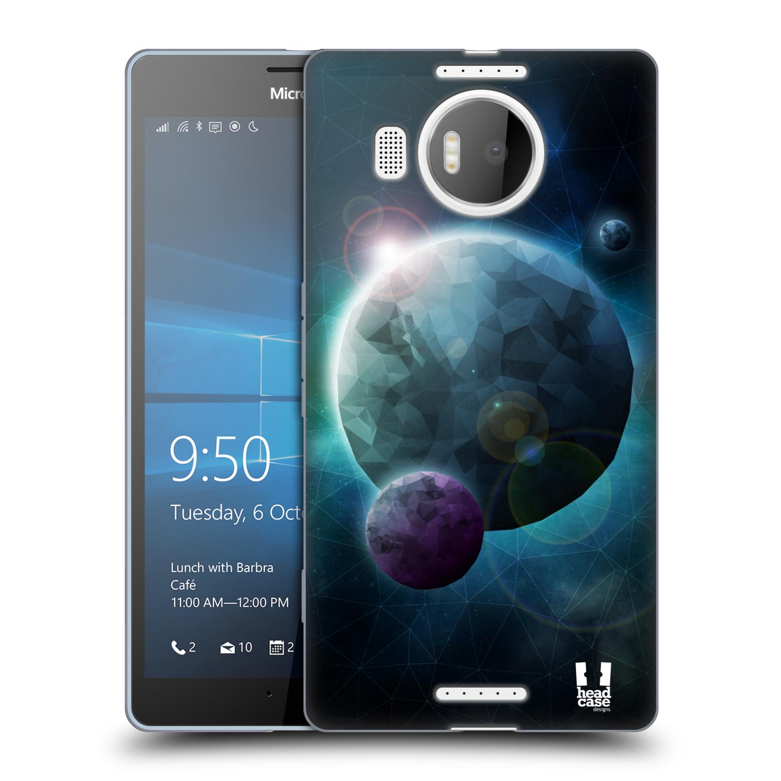 Silikonové pouzdro na mobil Microsoft Lumia 950 XL HEAD CASE UNIVERSE DISCOVER