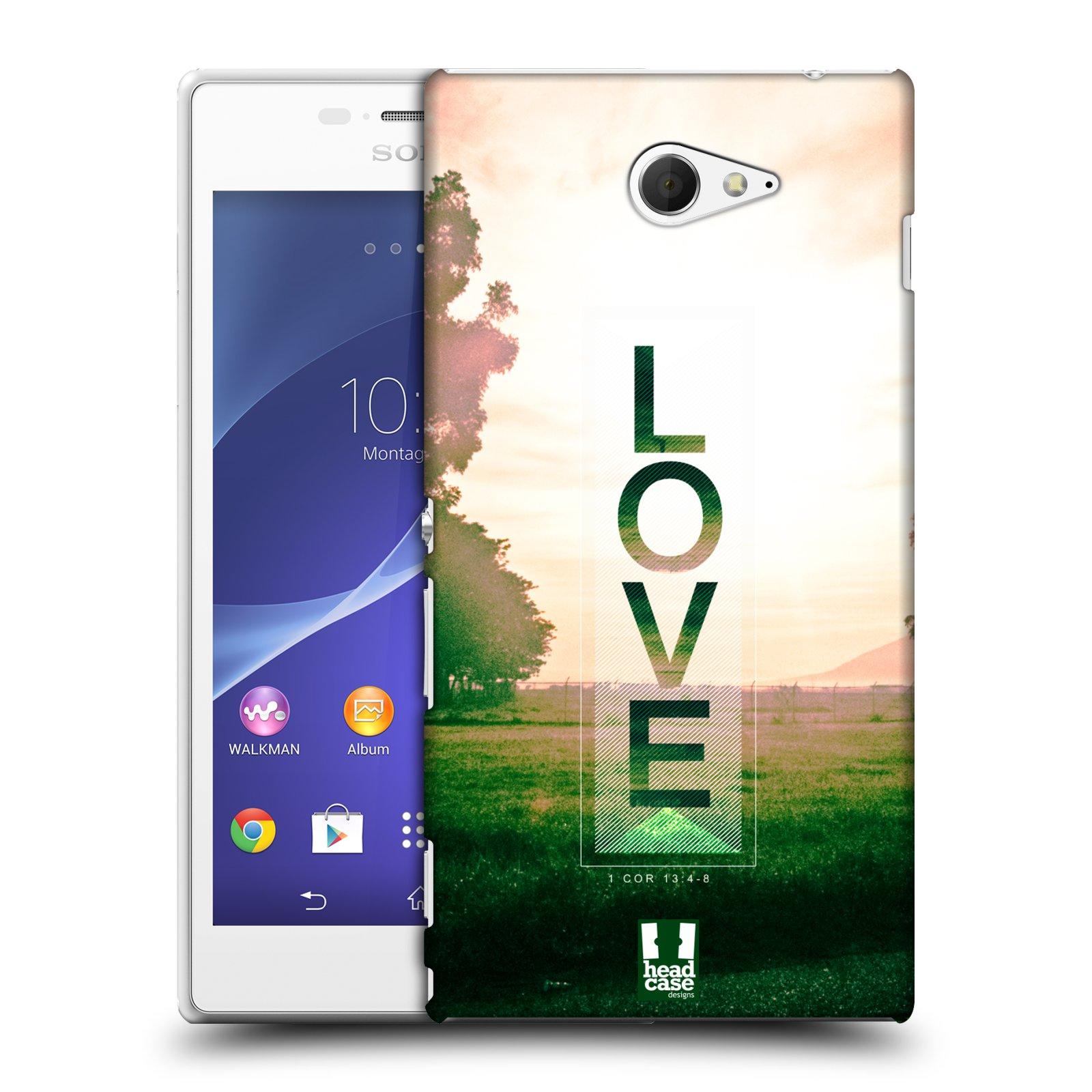 Plastové pouzdro na mobil Sony Xperia M2 D2303 HEAD CASE Láska (Kryt či obal na mobilní telefon Sony Xperia M2 )