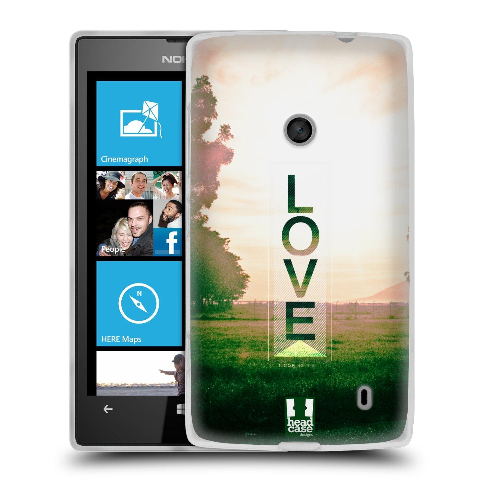 Silikonové pouzdro na mobil Nokia Lumia 520 HEAD CASE Láska (Silikonový Kryt či obal na mobilní telefon Nokia Lumia 520)