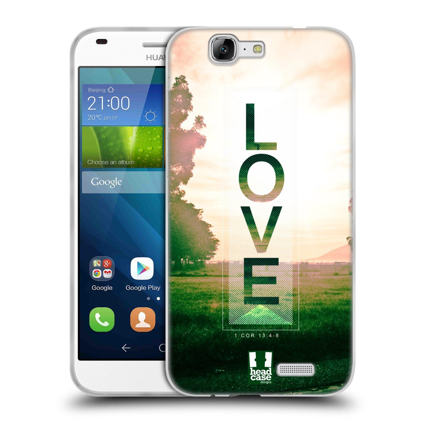 Silikonové pouzdro na mobil Huawei Ascend G7 HEAD CASE Láska (Silikonový kryt či obal na mobilní telefon Huawei Ascend G7)