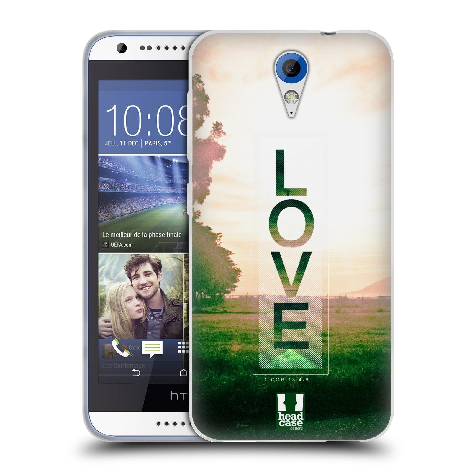 Silikonové pouzdro na mobil HTC Desire 620 HEAD CASE Láska (Silikonový kryt či obal na mobilní telefon HTC Desire 620)
