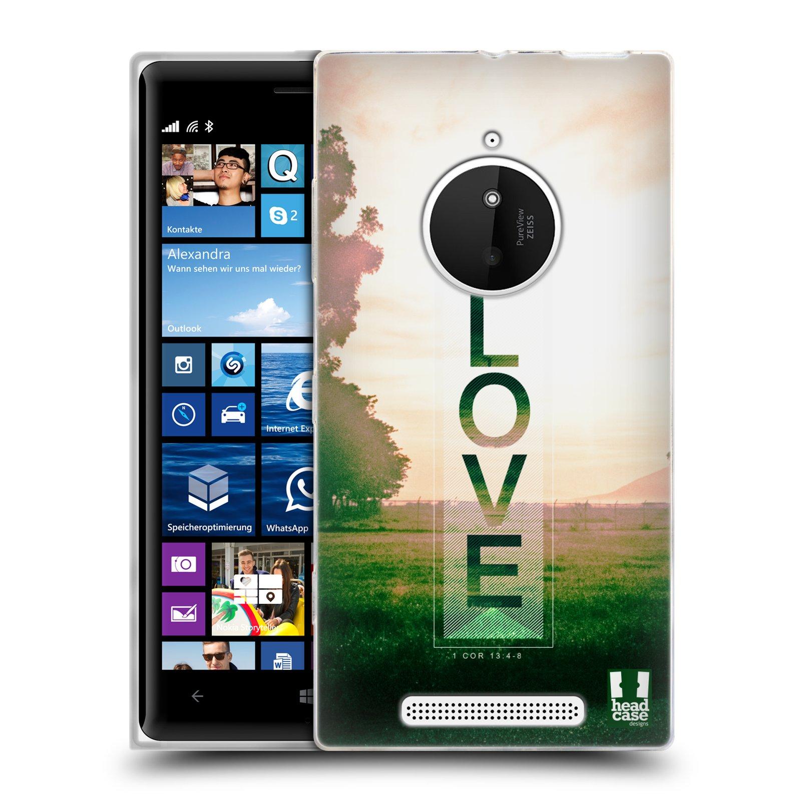 Silikonové pouzdro na mobil Nokia Lumia 830 HEAD CASE Láska (Silikonový kryt či obal na mobilní telefon Nokia Lumia 830)