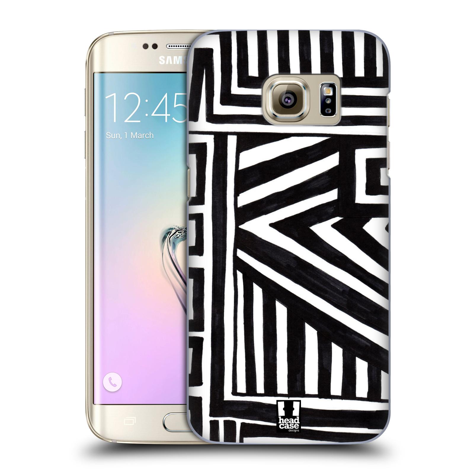 Plastové pouzdro na mobil Samsung Galaxy S7 Edge HEAD CASE DOODLE GEOMETRIC (Kryt či obal na mobilní telefon Samsung Galaxy S7 Edge SM-G935F)