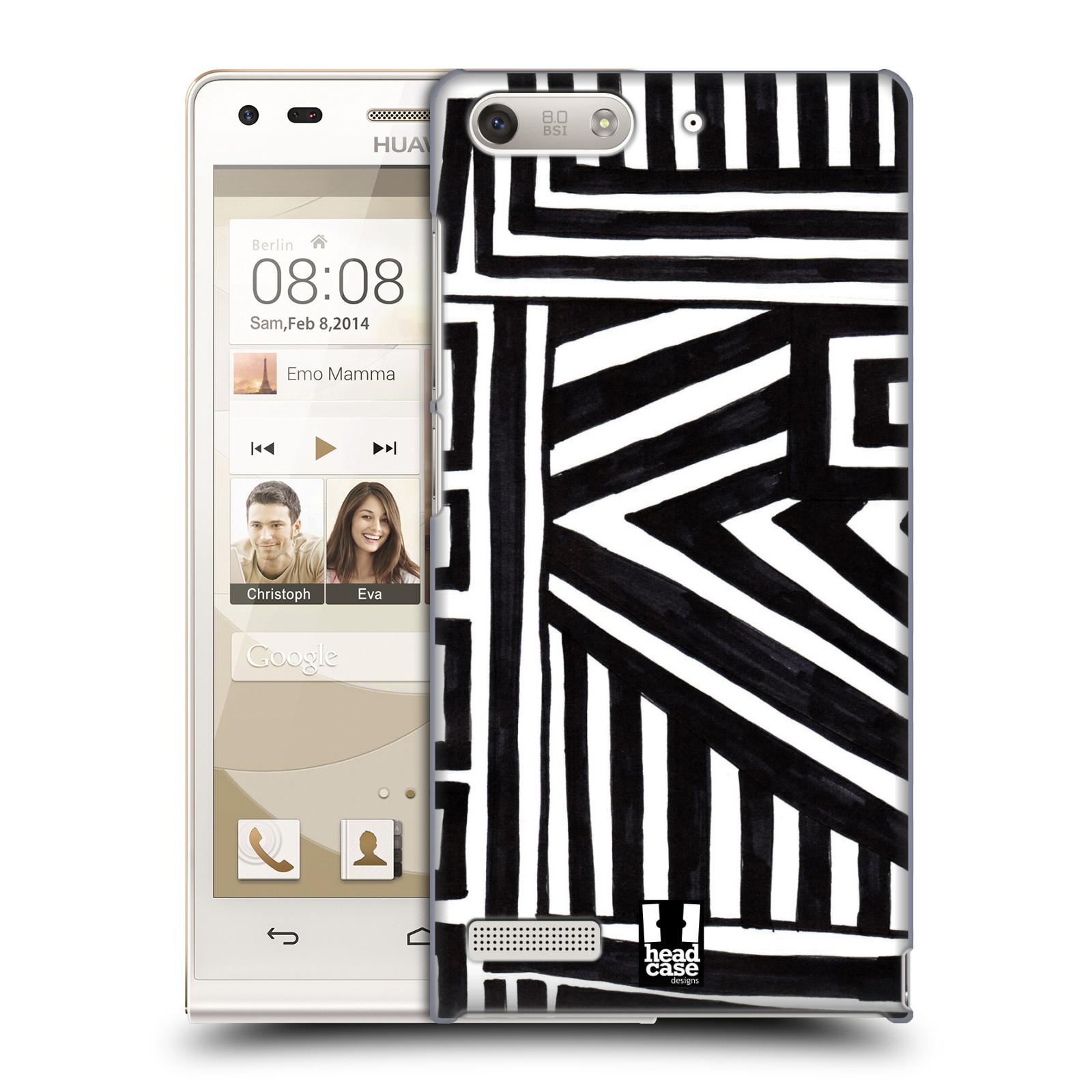 Plastové pouzdro na mobil Huawei Ascend G6 HEAD CASE DOODLE GEOMETRIC (Kryt či obal na mobilní telefon Huawei Ascend G6 bez LTE)