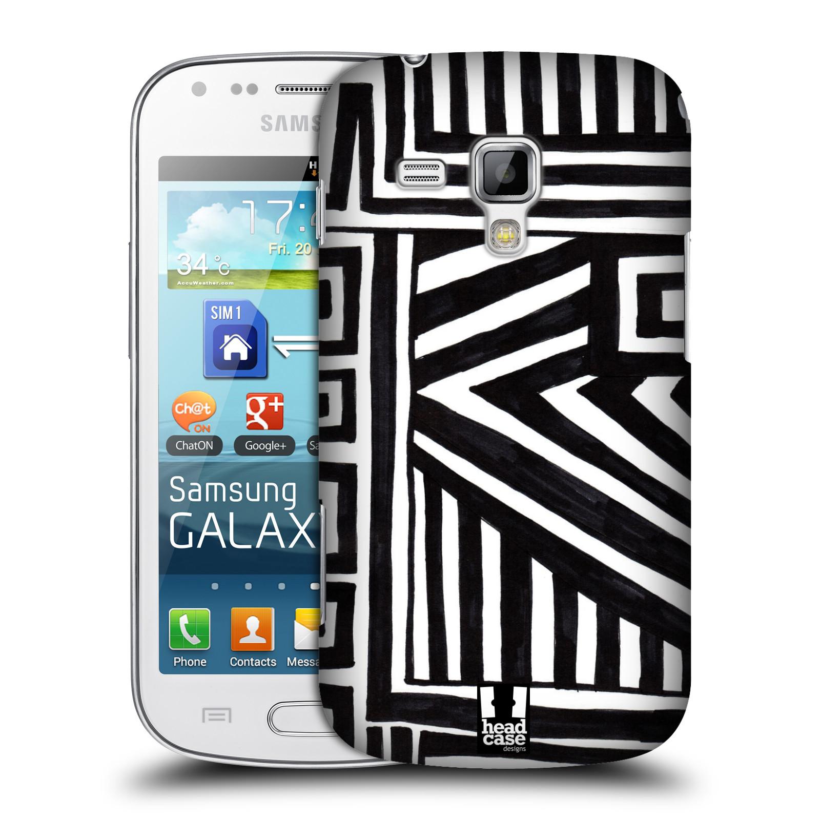 Plastové pouzdro na mobil Samsung Galaxy Trend Plus HEAD CASE DOODLE GEOMETRIC