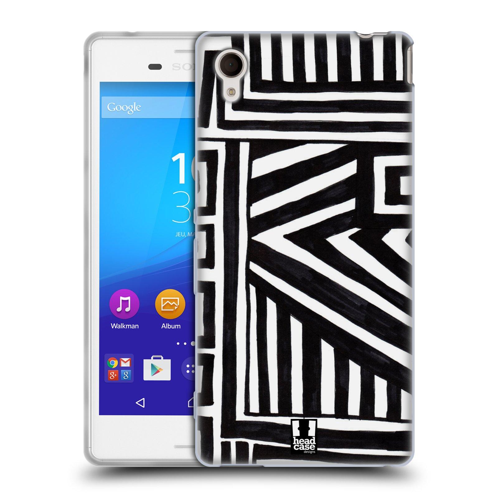 Silikonové pouzdro na mobil Sony Xperia M4 Aqua E2303 HEAD CASE DOODLE GEOMETRIC (Silikonový kryt či obal na mobilní telefon Sony Xperia M4 Aqua a M4 Aqua Dual SIM)