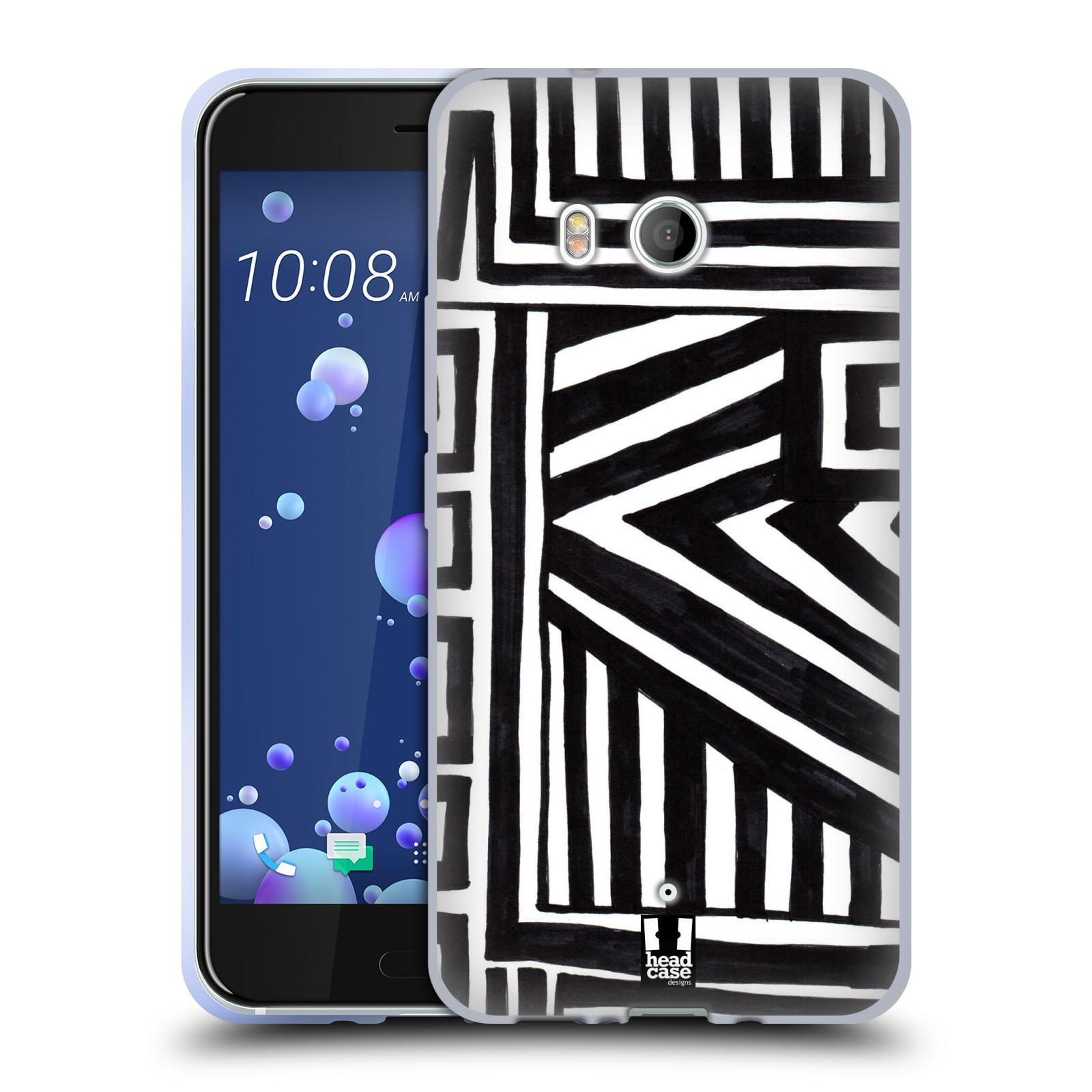 Silikonové pouzdro na mobil HTC U11 - Head Case - DOODLE GEOMETRIC
