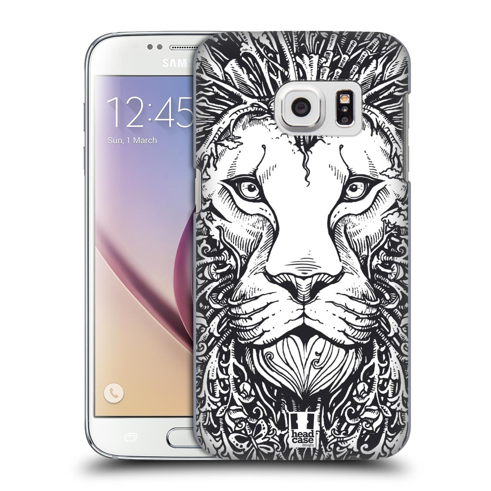 Plastové pouzdro na mobil Samsung Galaxy S7 HEAD CASE DOODLE TVÁŘ LEV (Kryt či obal na mobilní telefon Samsung Galaxy S7 SM-G930F)