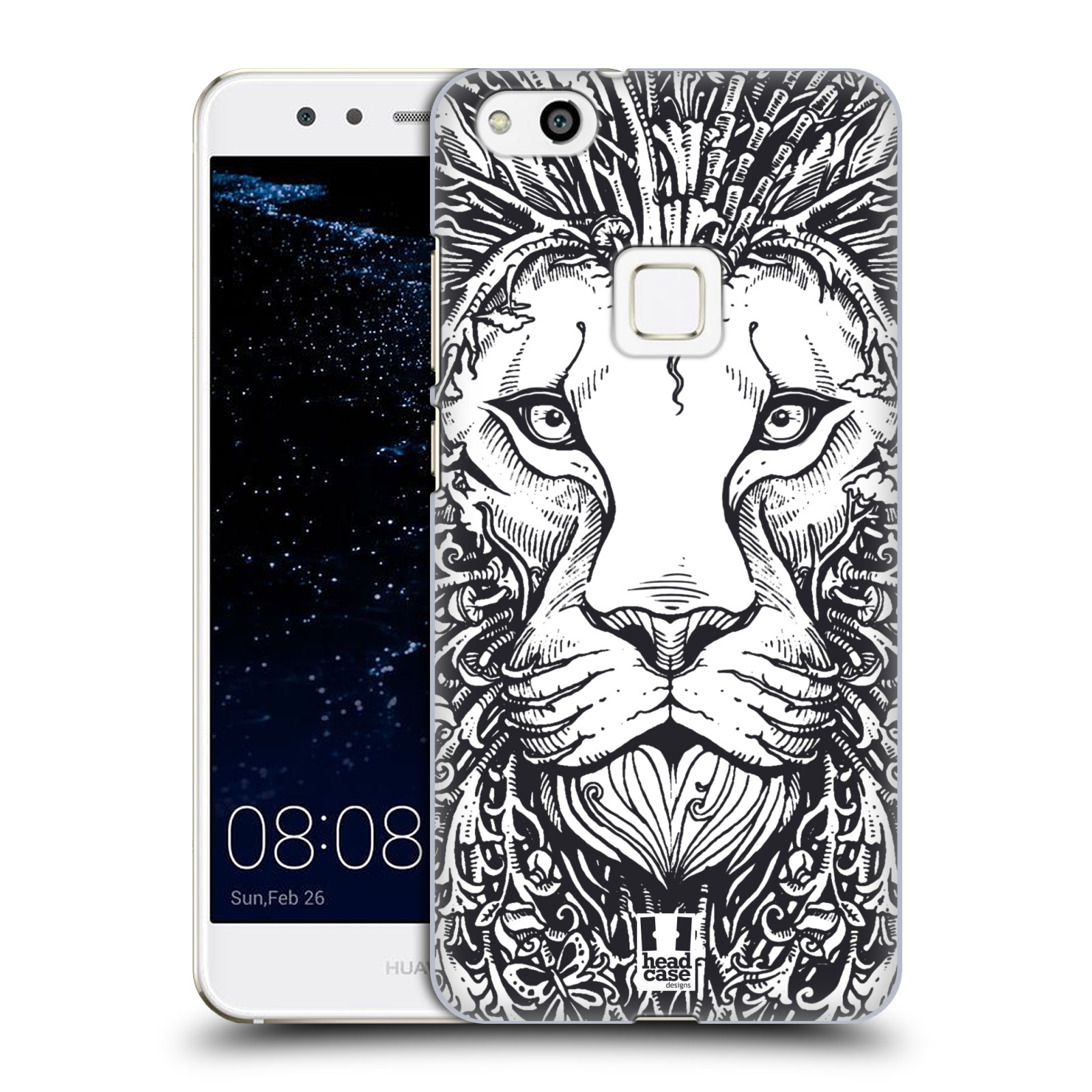 Plastové pouzdro na mobil Huawei P10 Lite Head Case - DOODLE TVÁŘ LEV (Plastový kryt či obal na mobilní telefon Huawei P10 Lite Dual SIM (LX1/LX1A))