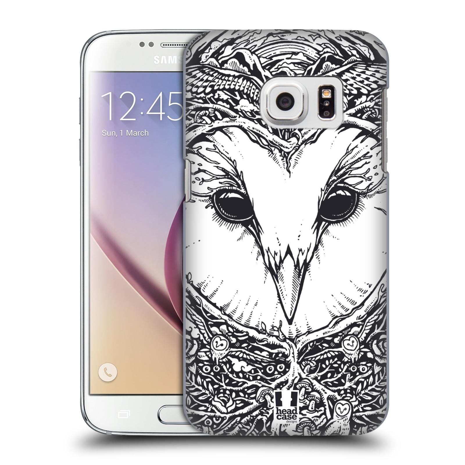 Plastové pouzdro na mobil Samsung Galaxy S7 HEAD CASE DOODLE TVÁŘ SOVA (Kryt či obal na mobilní telefon Samsung Galaxy S7 SM-G930F)