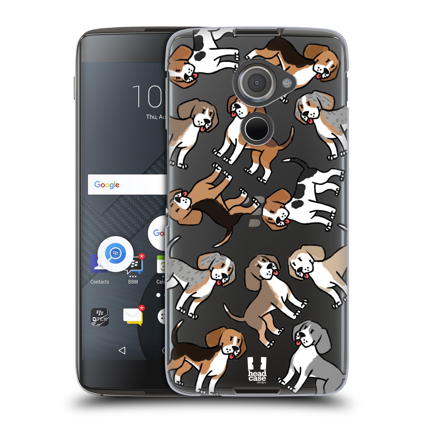 Plastové pouzdro na mobil Blackberry DTEK60 (Argon) - Head Case - Bíglové (Plastový kryt či obal na mobilní telefon s motivem bígla pro Blackberry DTEK60 (Argon))