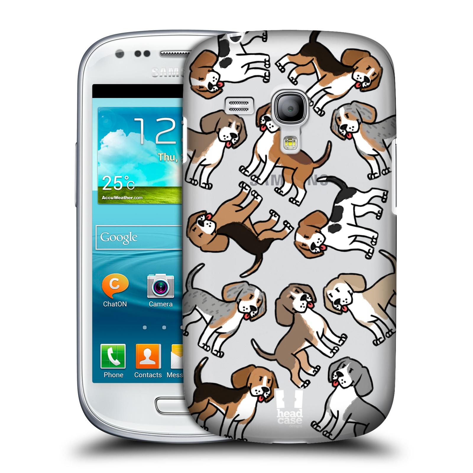 Silikonové pouzdro na mobil Samsung Galaxy S III Mini VE Head Case - Bíglové (Plastový kryt či obal na mobilní telefon s motivem bígla pro Samsung Galaxy S3 Mini VE GT-i8200)