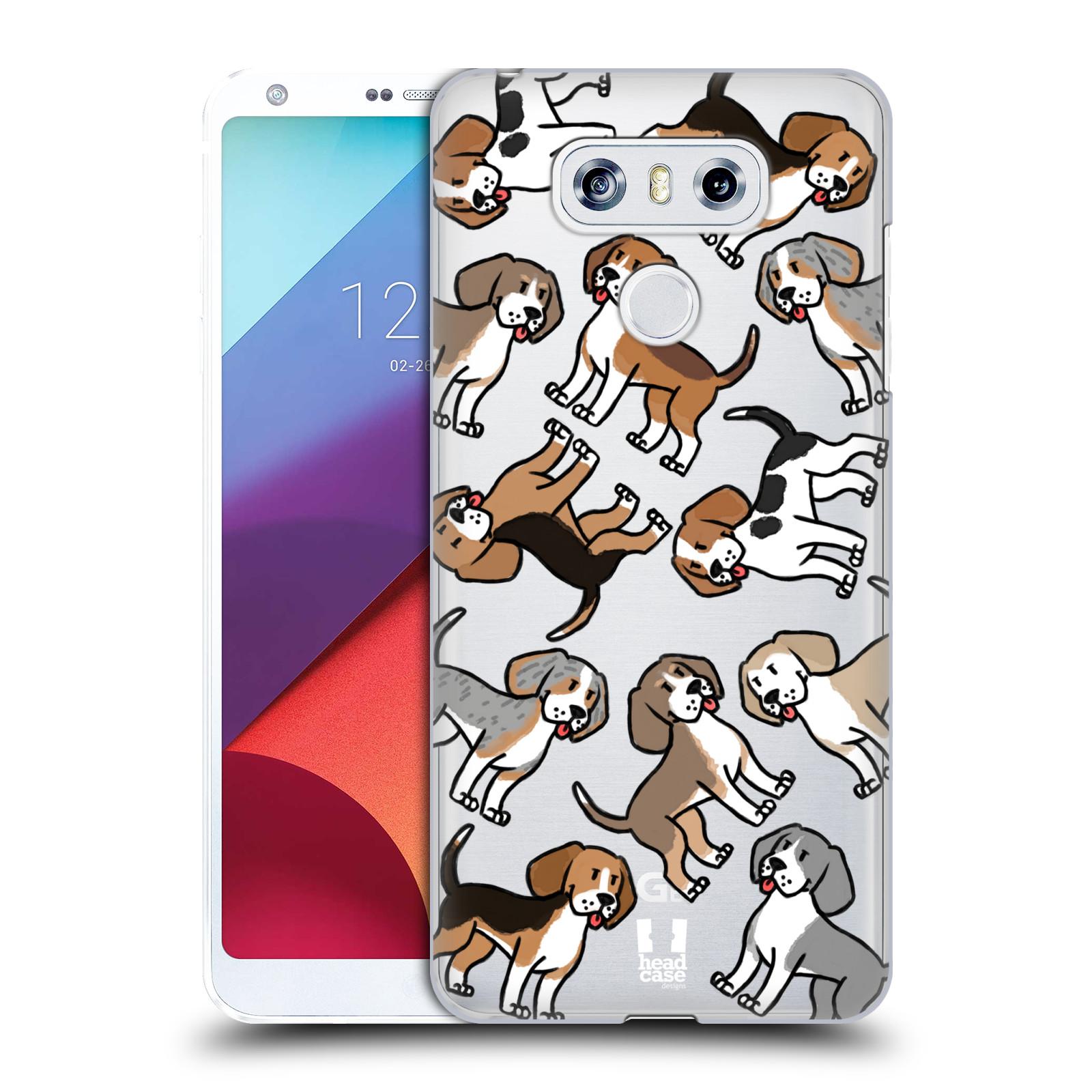 Plastové pouzdro na mobil LG G6 - Head Case - Bíglové (Plastový kryt či obal na mobilní telefon s motivem bígla pro LG G6 H870 / LG G6 Dual SIM H870DS)