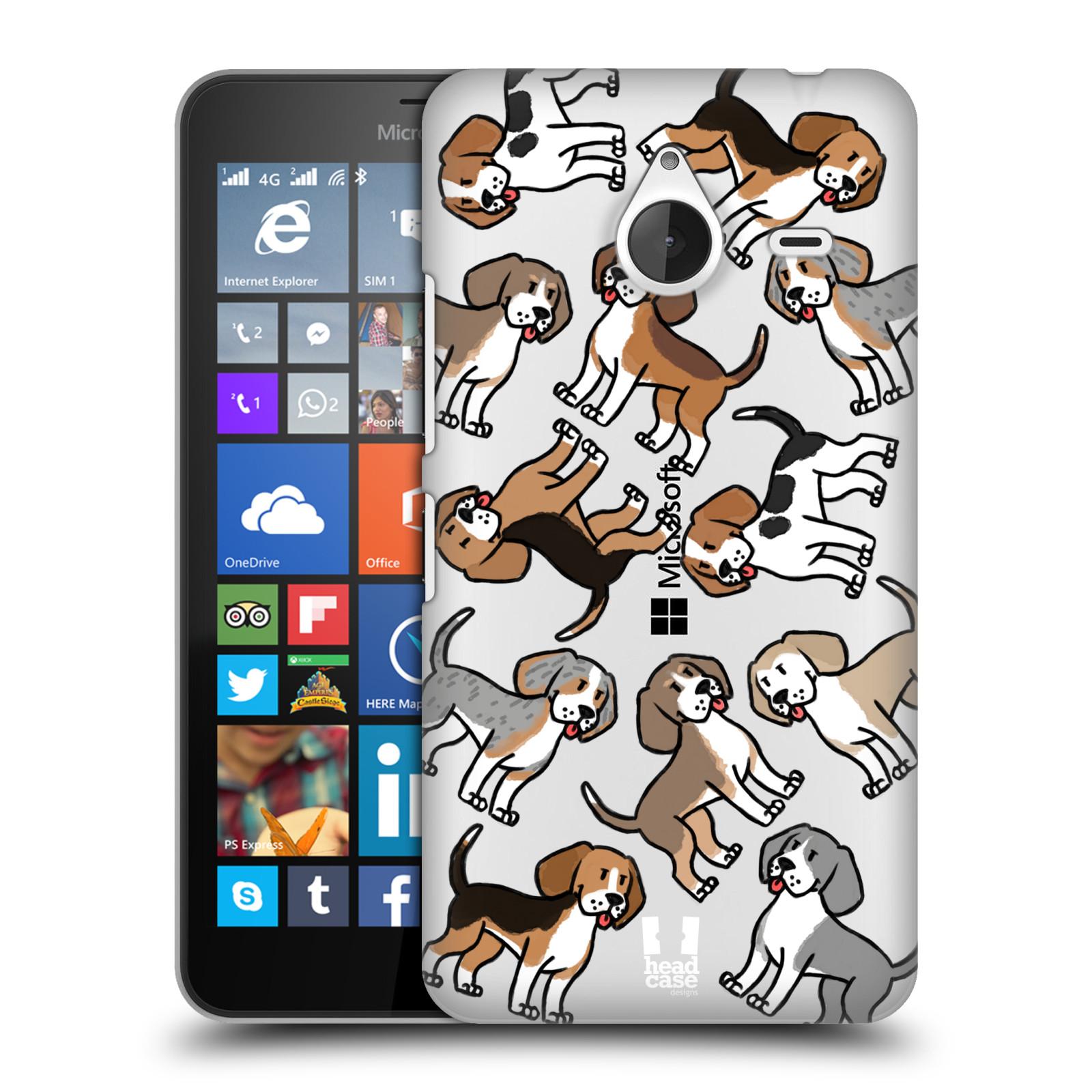 Plastové pouzdro na mobil Microsoft Lumia 640 XL Head Case - Bíglové (Plastový kryt či obal na mobilní telefon s motivem bígla pro Microsoft Lumia 640 XL)
