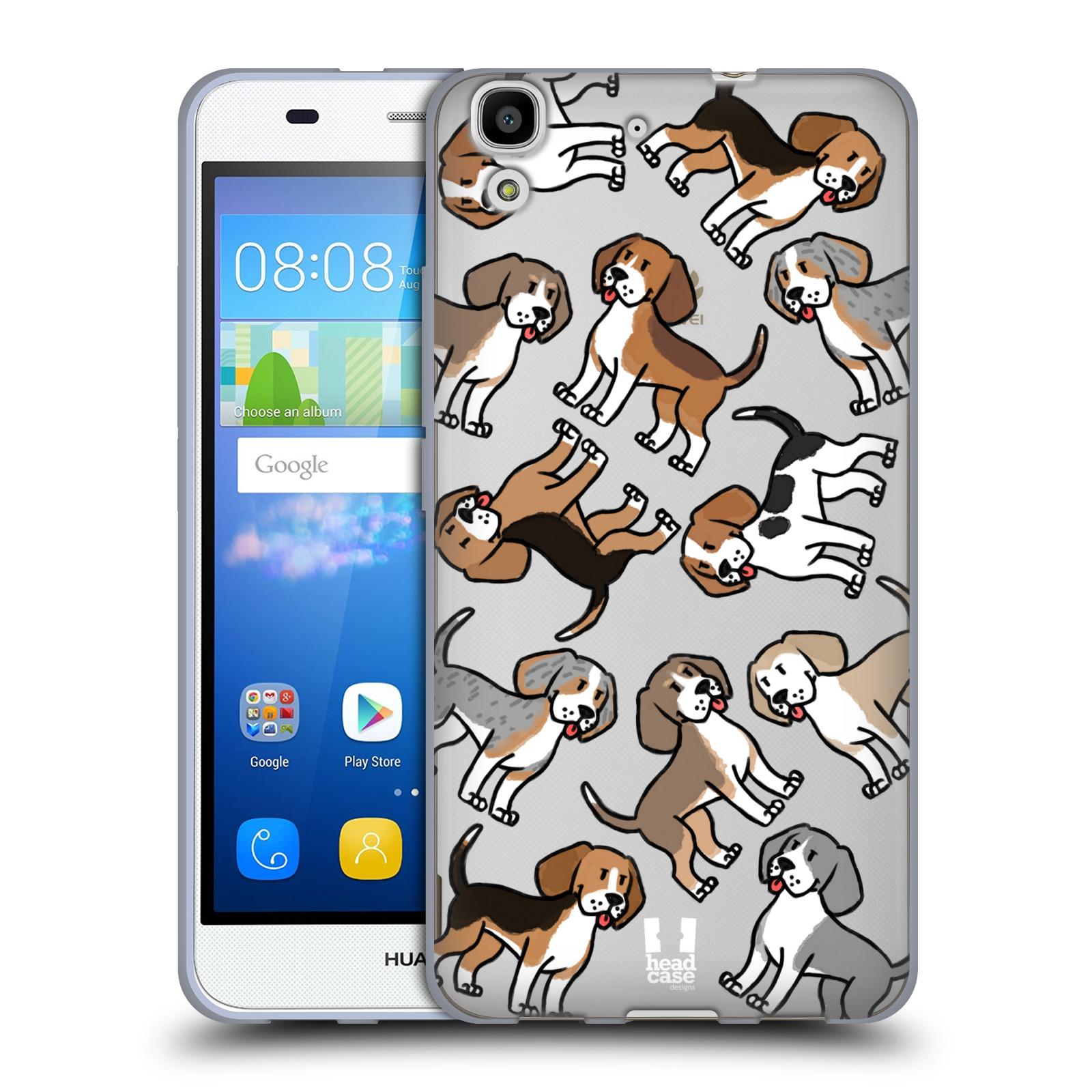 Silikonové pouzdro na mobil Huawei Y6 Head Case - Bíglové
