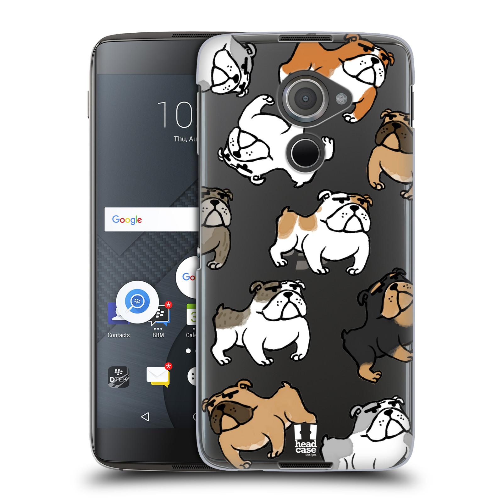 Plastové pouzdro na mobil Blackberry DTEK60 (Argon) - Head Case - Buldoci (Plastový kryt či obal na mobilní telefon s motivem buldoků pro Blackberry DTEK60 (Argon))