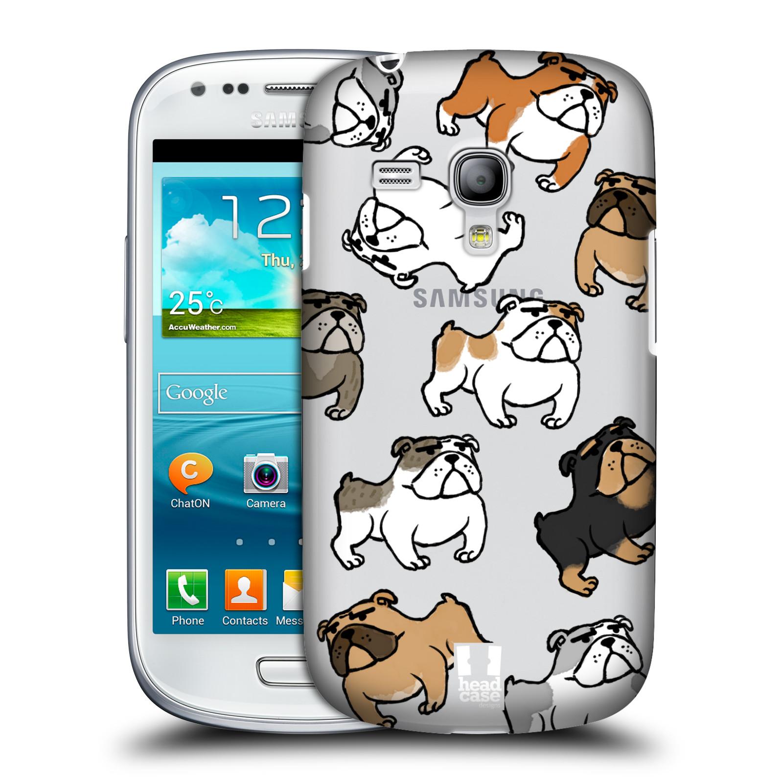 Silikonové pouzdro na mobil Samsung Galaxy S III Mini VE Head Case - Buldoci (Plastový kryt či obal na mobilní telefon s motivem buldoků pro Samsung Galaxy S3 Mini VE GT-i8200)