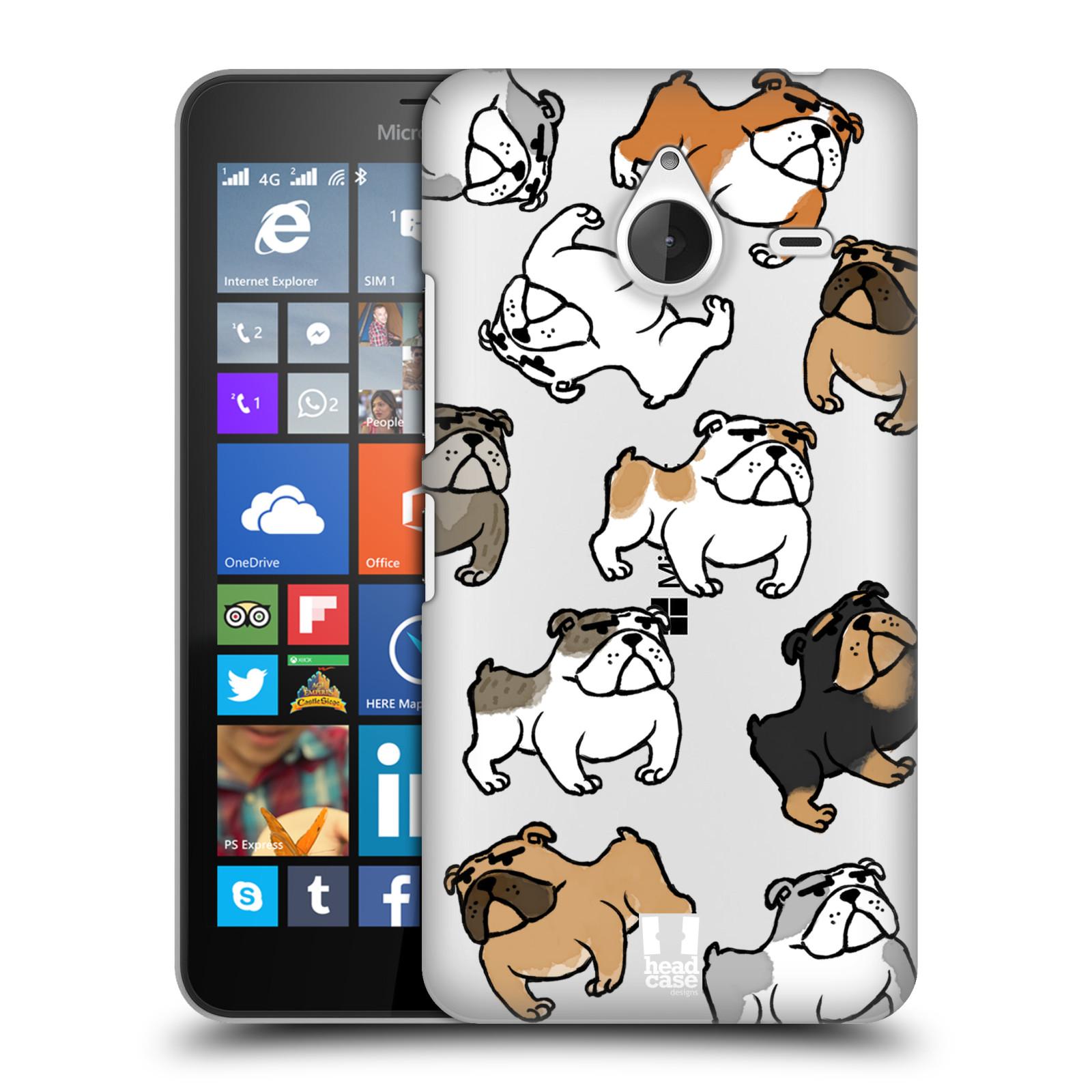 Plastové pouzdro na mobil Microsoft Lumia 640 XL Head Case - Buldoci (Plastový kryt či obal na mobilní telefon s motivem buldoků pro Microsoft Lumia 640 XL)