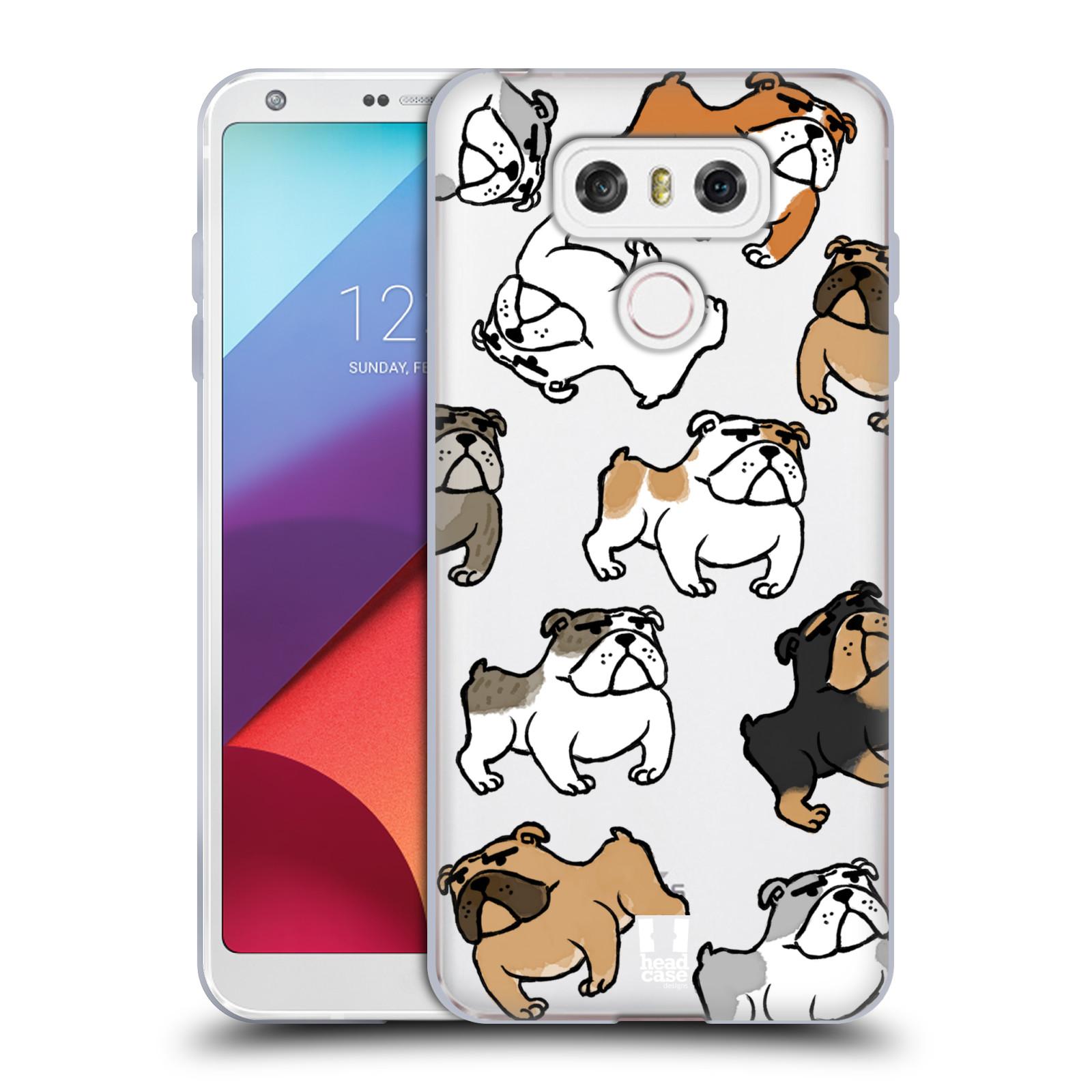 Silikonové pouzdro na mobil LG G6 - Head Case - Buldoci (Silikonový kryt či obal na mobilní telefon s motivem buldoků pro LG G6 H870 / LG G6 Dual SIM H870DS)