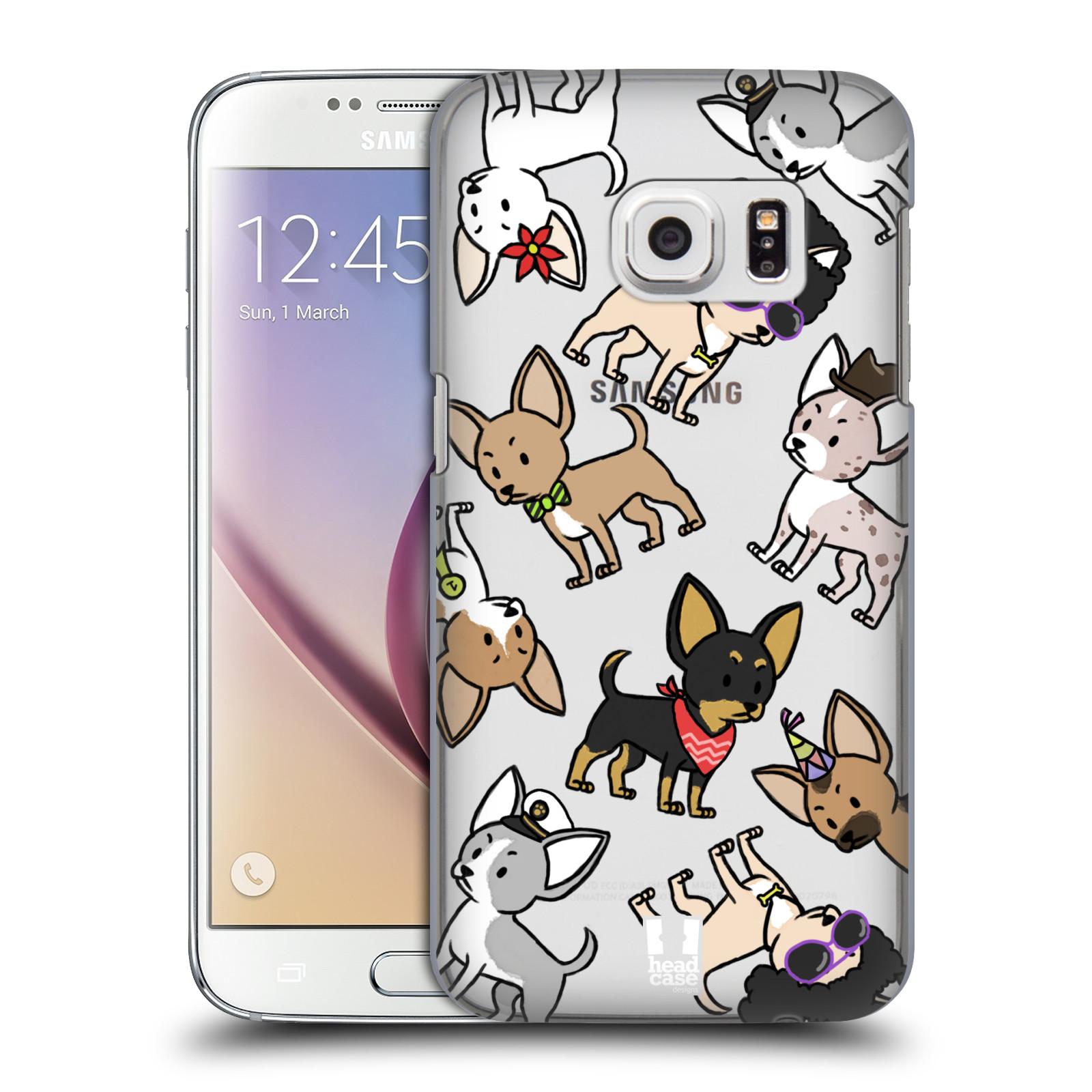Plastové pouzdro na mobil Samsung Galaxy S7 Head Case - Čivavy (Plastový kryt či obal na mobilní telefon s motivem čivav pro Samsung Galaxy S7 SM-G930F)