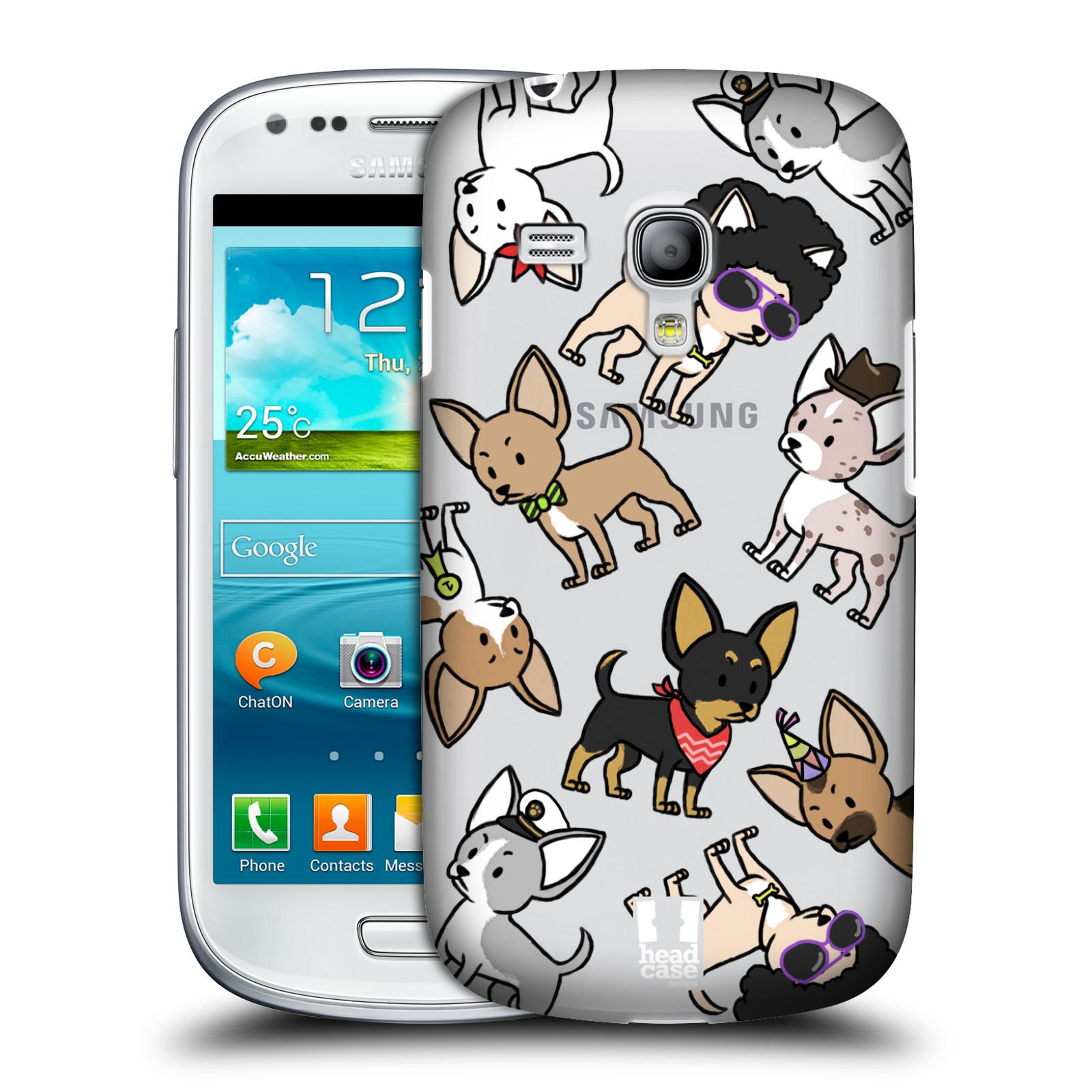Silikonové pouzdro na mobil Samsung Galaxy S III Mini VE Head Case - Čivavy (Plastový kryt či obal na mobilní telefon s motivem čivav pro Samsung Galaxy S3 Mini VE GT-i8200)