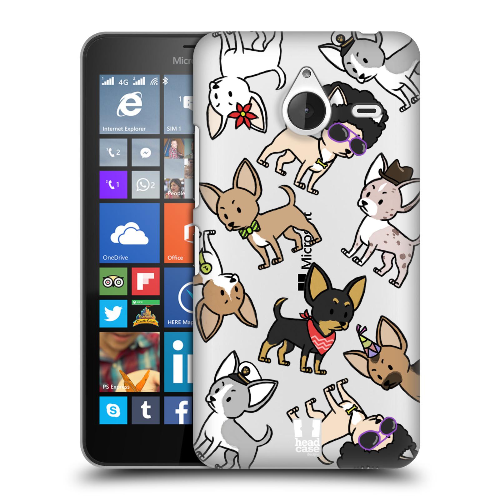 Plastové pouzdro na mobil Microsoft Lumia 640 XL Head Case - Čivavy (Plastový kryt či obal na mobilní telefon s motivem čivav pro Microsoft Lumia 640 XL)