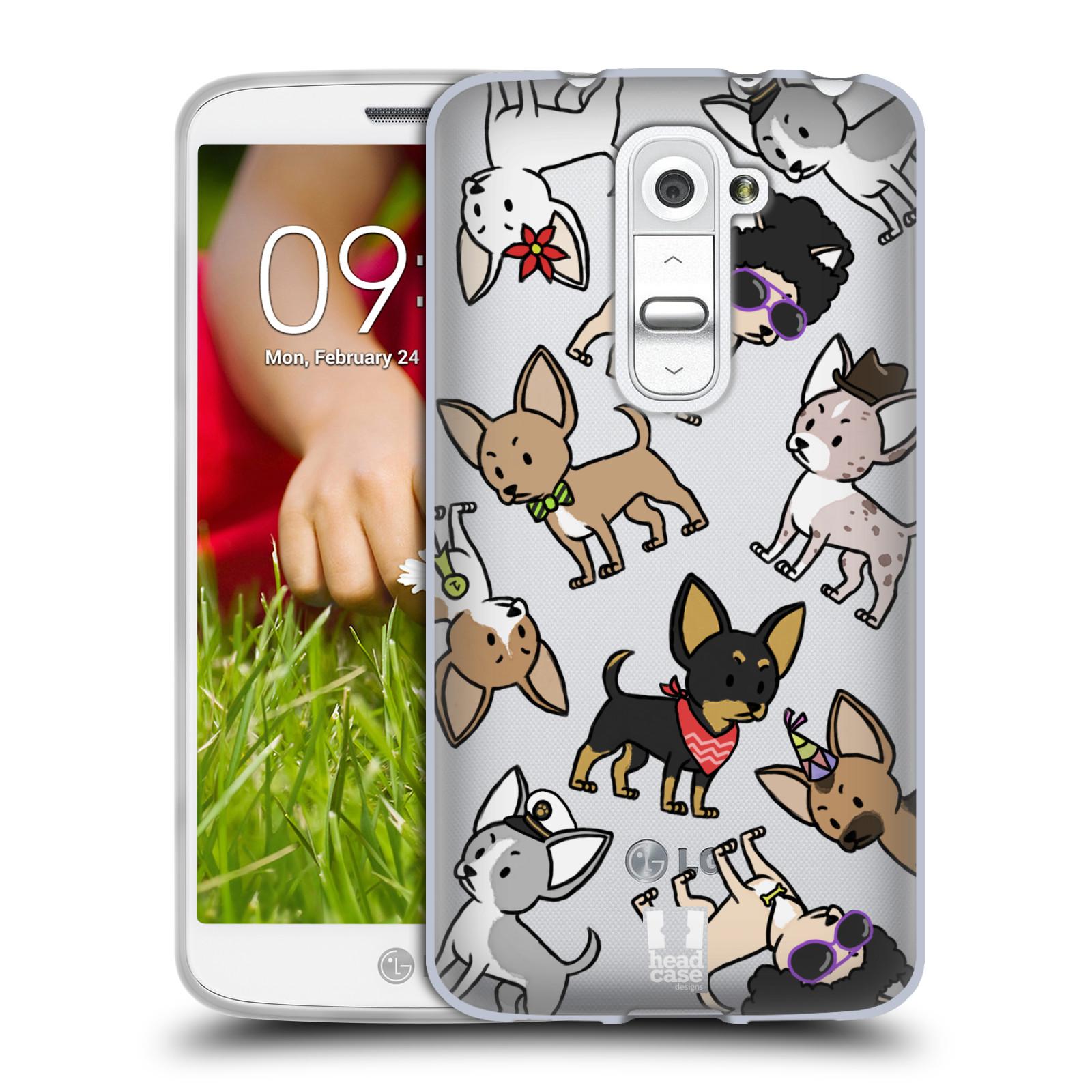Silikonové pouzdro na mobil LG G2 Mini Head Case - Čivavy (Silikonový kryt či obal na mobilní telefon s motivem čivav pro LG G2 Mini D620)