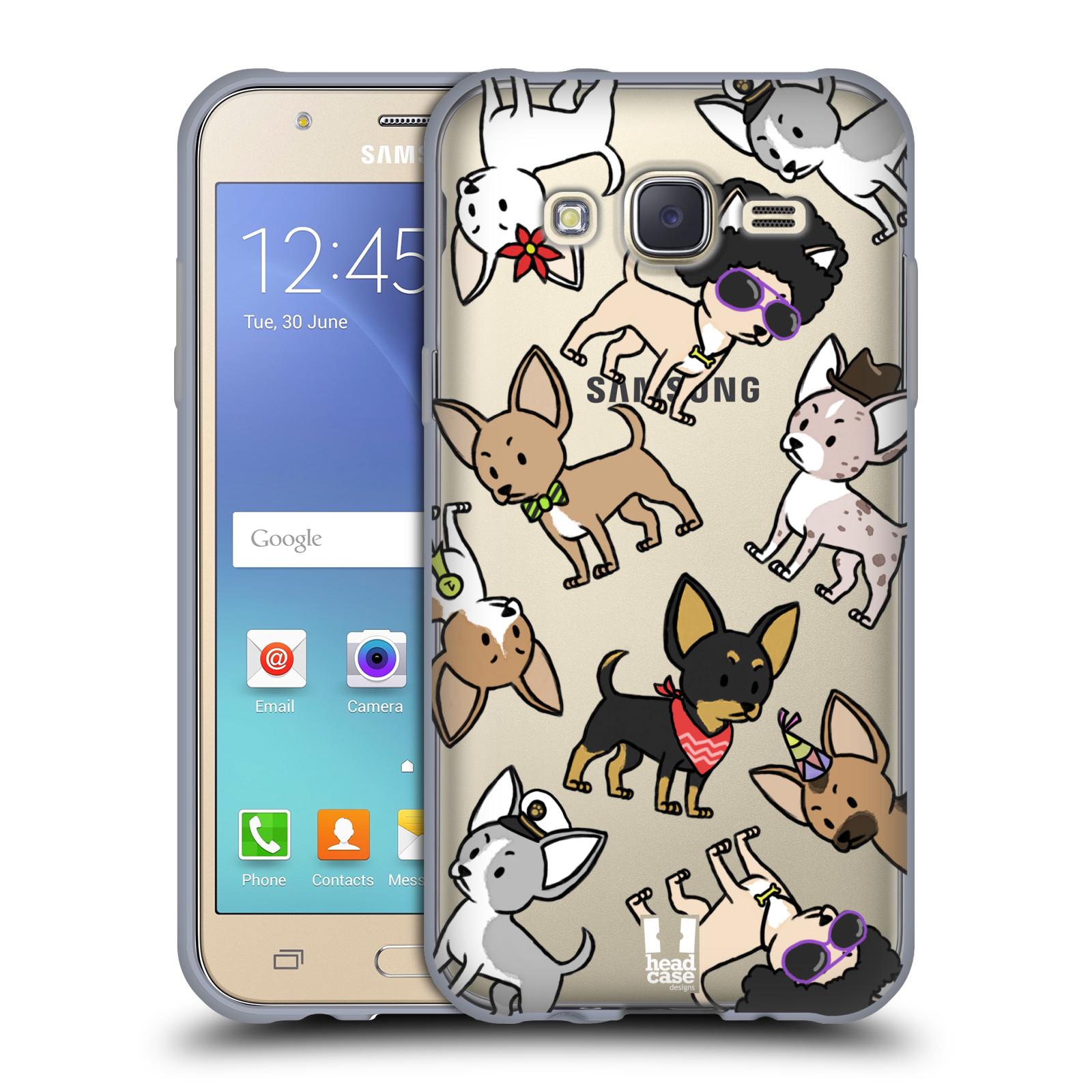 Silikonové pouzdro na mobil Samsung Galaxy J5 Head Case - Čivavy