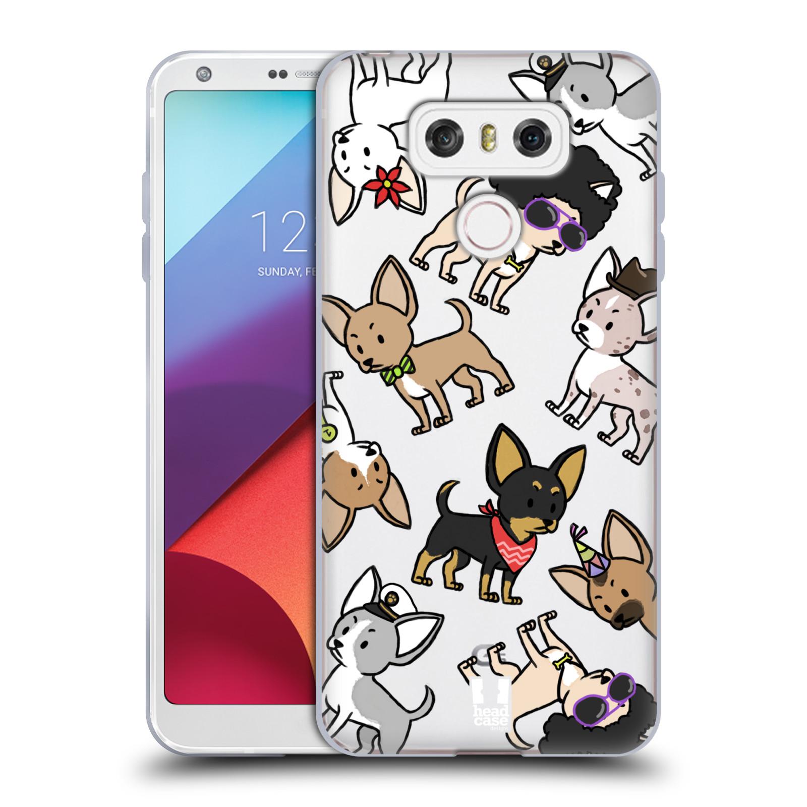 Silikonové pouzdro na mobil LG G6 - Head Case - Čivavy (Silikonový kryt či obal na mobilní telefon s motivem čivav pro LG G6 H870 / LG G6 Dual SIM H870DS)