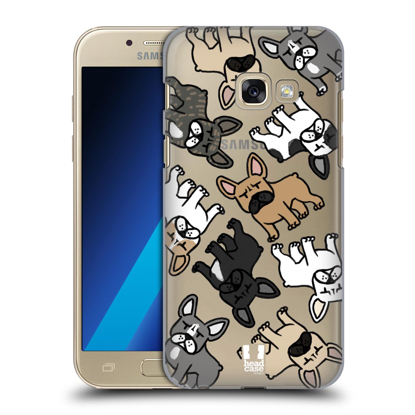 Plastové pouzdro na mobil Samsung Galaxy A3 (2017) Head Case - Francouzští buldočci