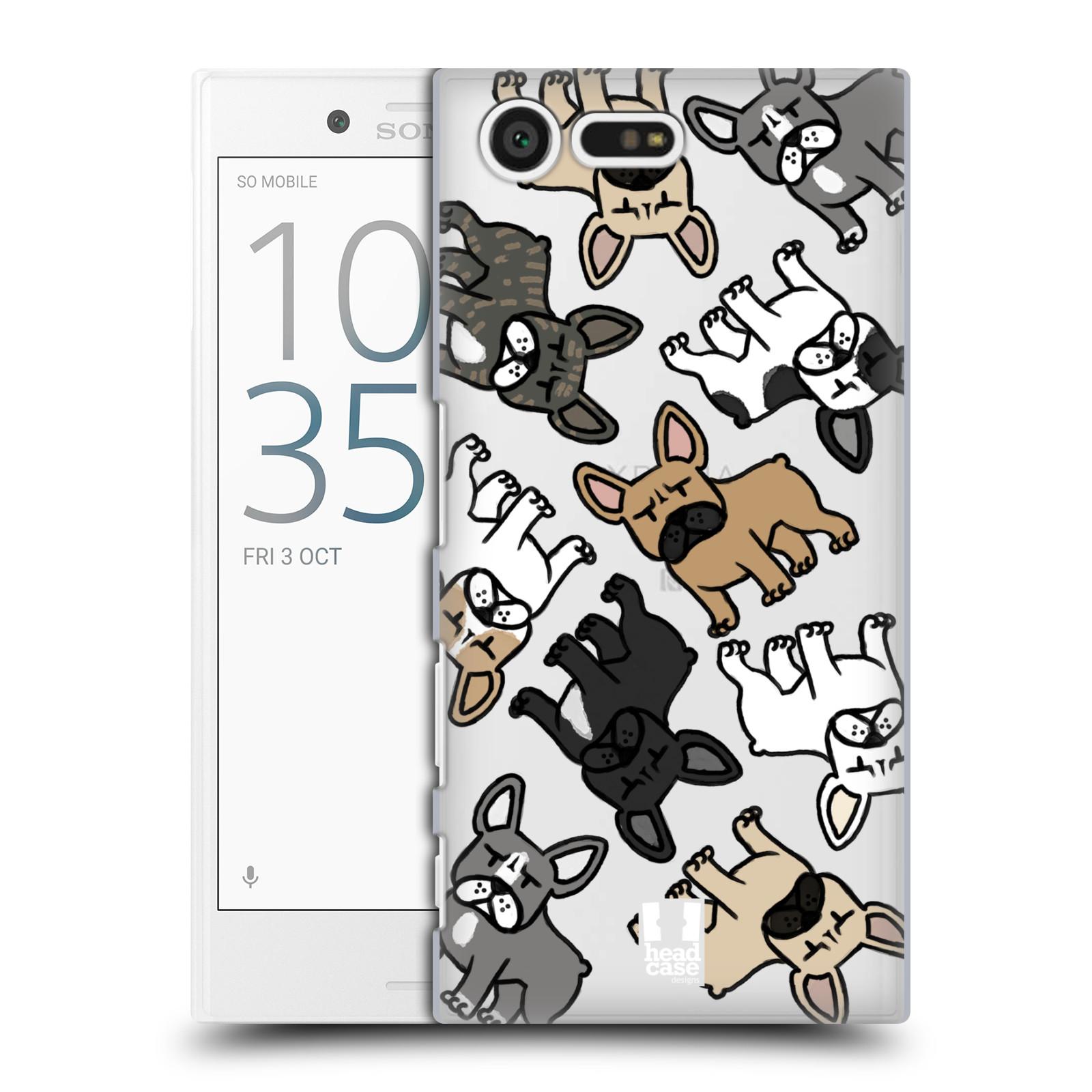 Plastové pouzdro na mobil Sony Xperia X Compact Head Case - Francouzští buldočci