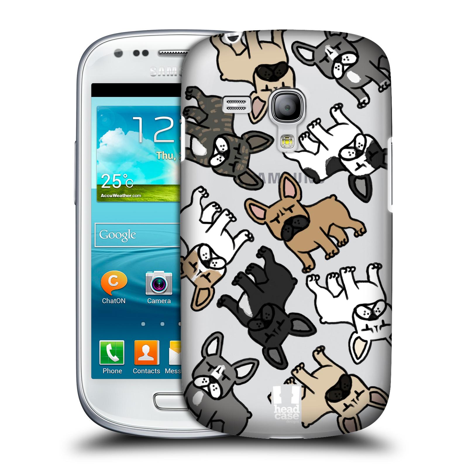 Silikonové pouzdro na mobil Samsung Galaxy S III Mini VE Head Case - Francouzští buldočci (Plastový kryt či obal na mobilní telefon s motivem francouzkých buldočků pro Samsung Galaxy S3 Mini VE GT-i8200)