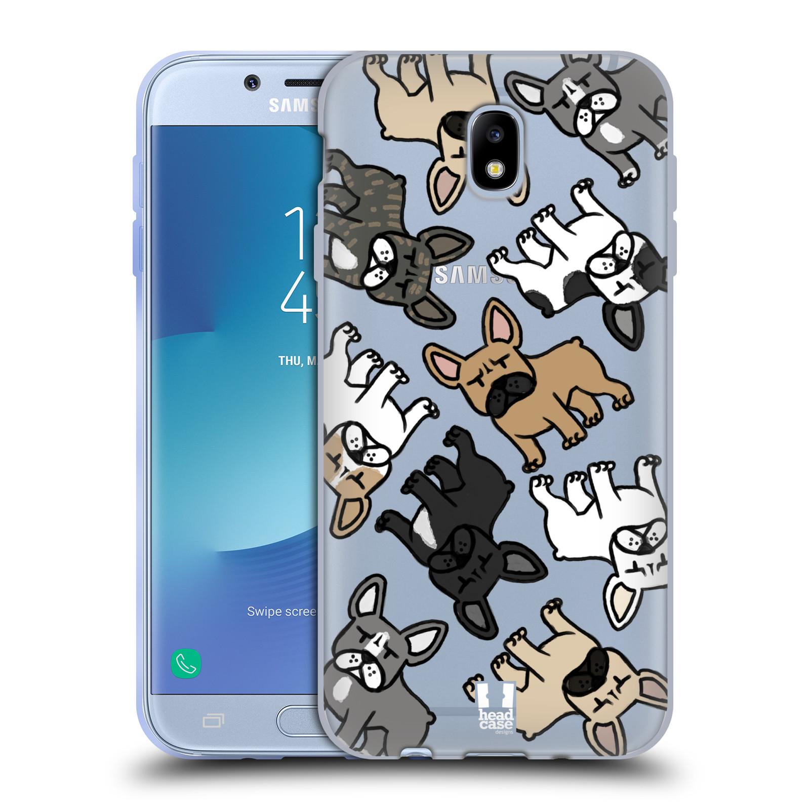Silikonové pouzdro na mobil Samsung Galaxy J7 (2017) - Head Case - Francouzští buldočci