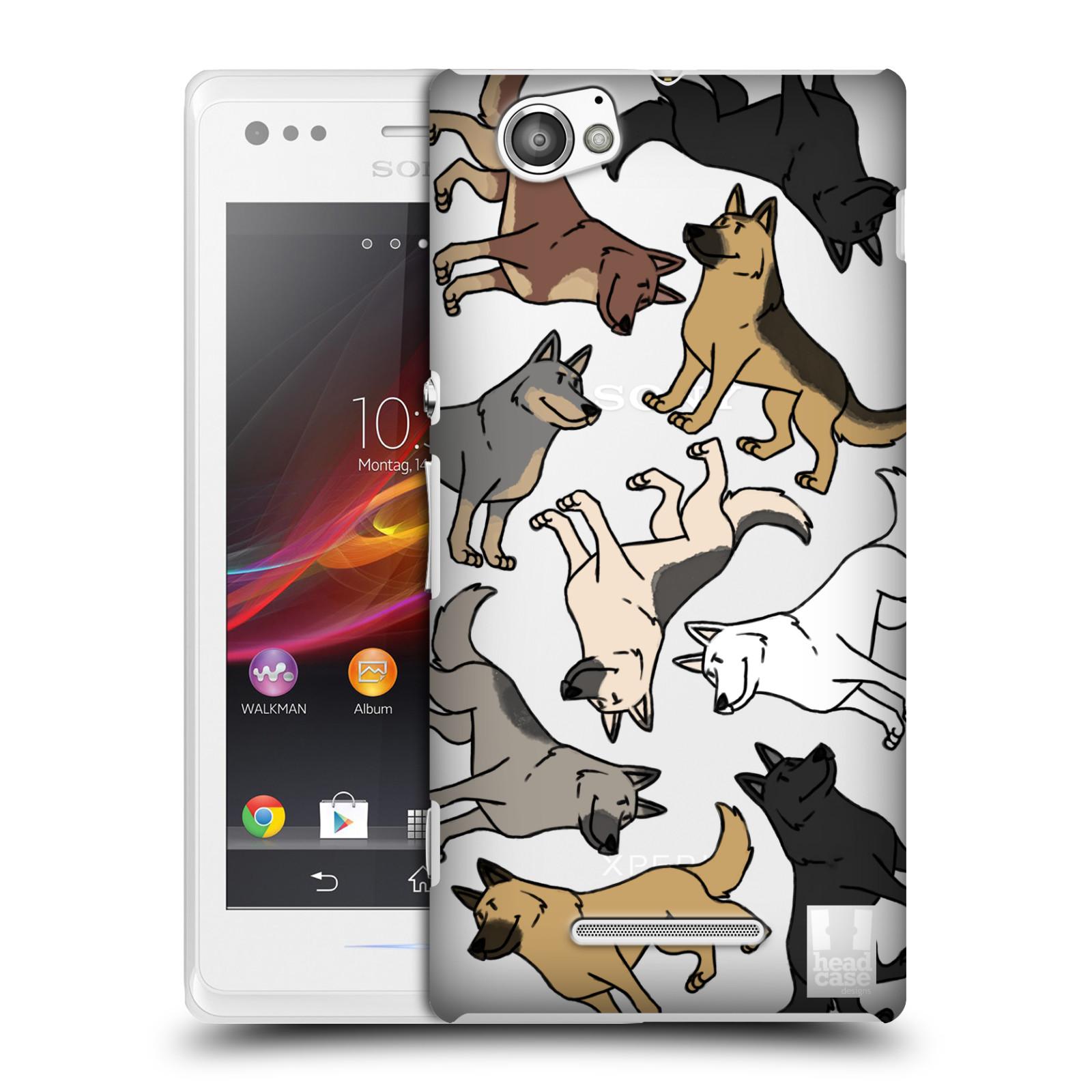 Plastové pouzdro na mobil Sony Xperia M C1905 Head Case - Něměcký ovčák (Plastový kryt či obal na mobilní telefon s motivem německých ovčáků pro Sony Xperia M )