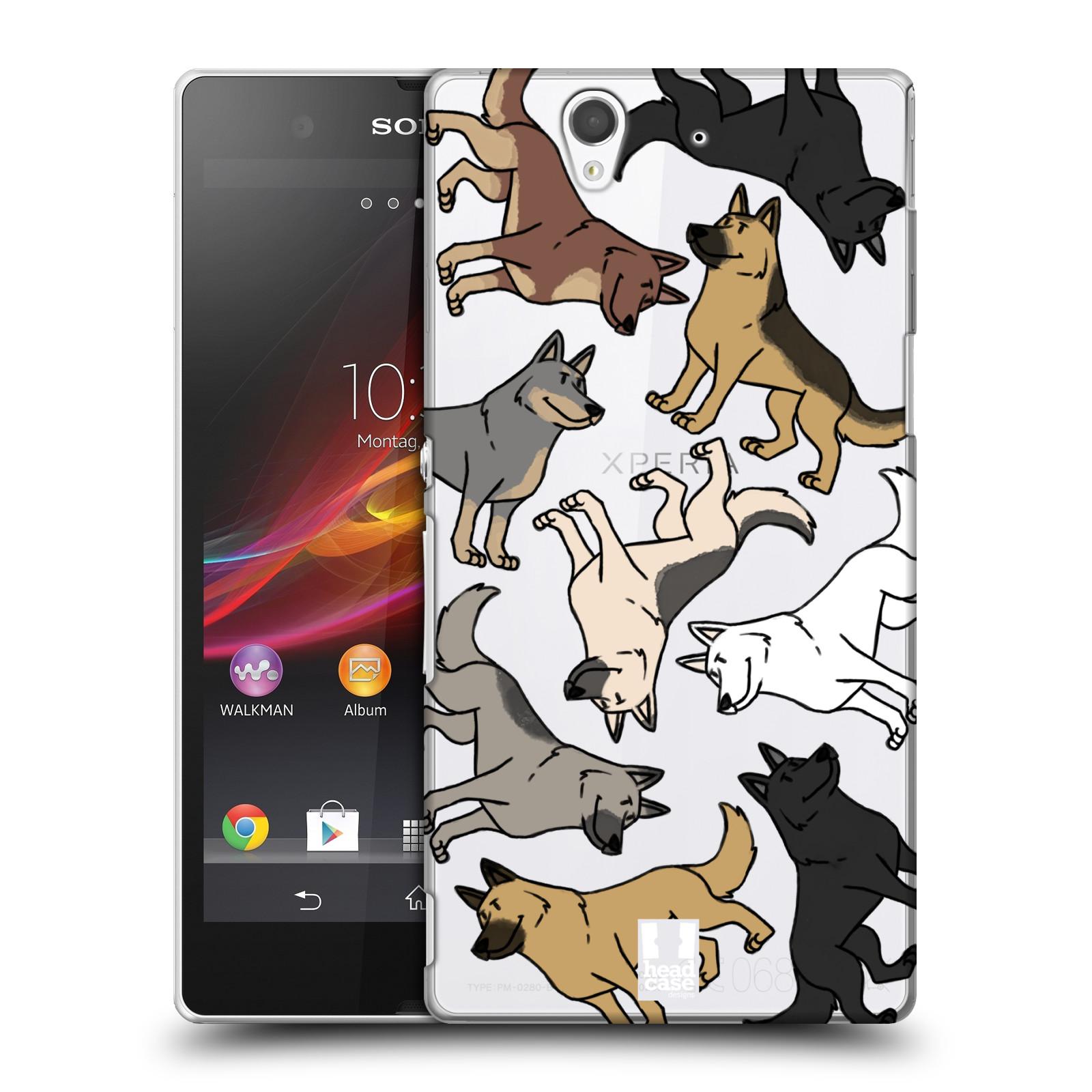 Plastové pouzdro na mobil Sony Xperia Z C6603 Head Case - Něměcký ovčák (Plastový kryt či obal na mobilní telefon s motivem německých ovčáků pro Sony Xperia Z)