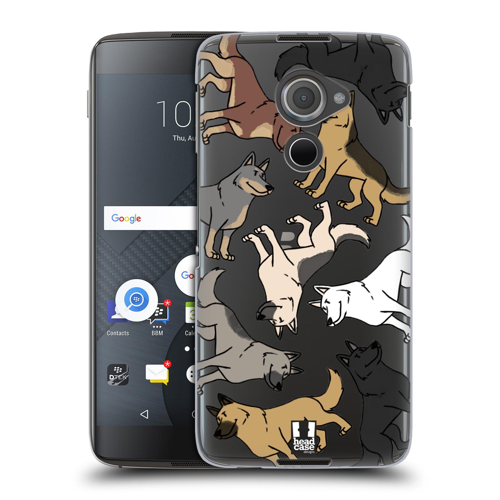 Plastové pouzdro na mobil Blackberry DTEK60 (Argon) - Head Case - Něměcký ovčák (Plastový kryt či obal na mobilní telefon s motivem německých ovčáků pro Blackberry DTEK60 (Argon))